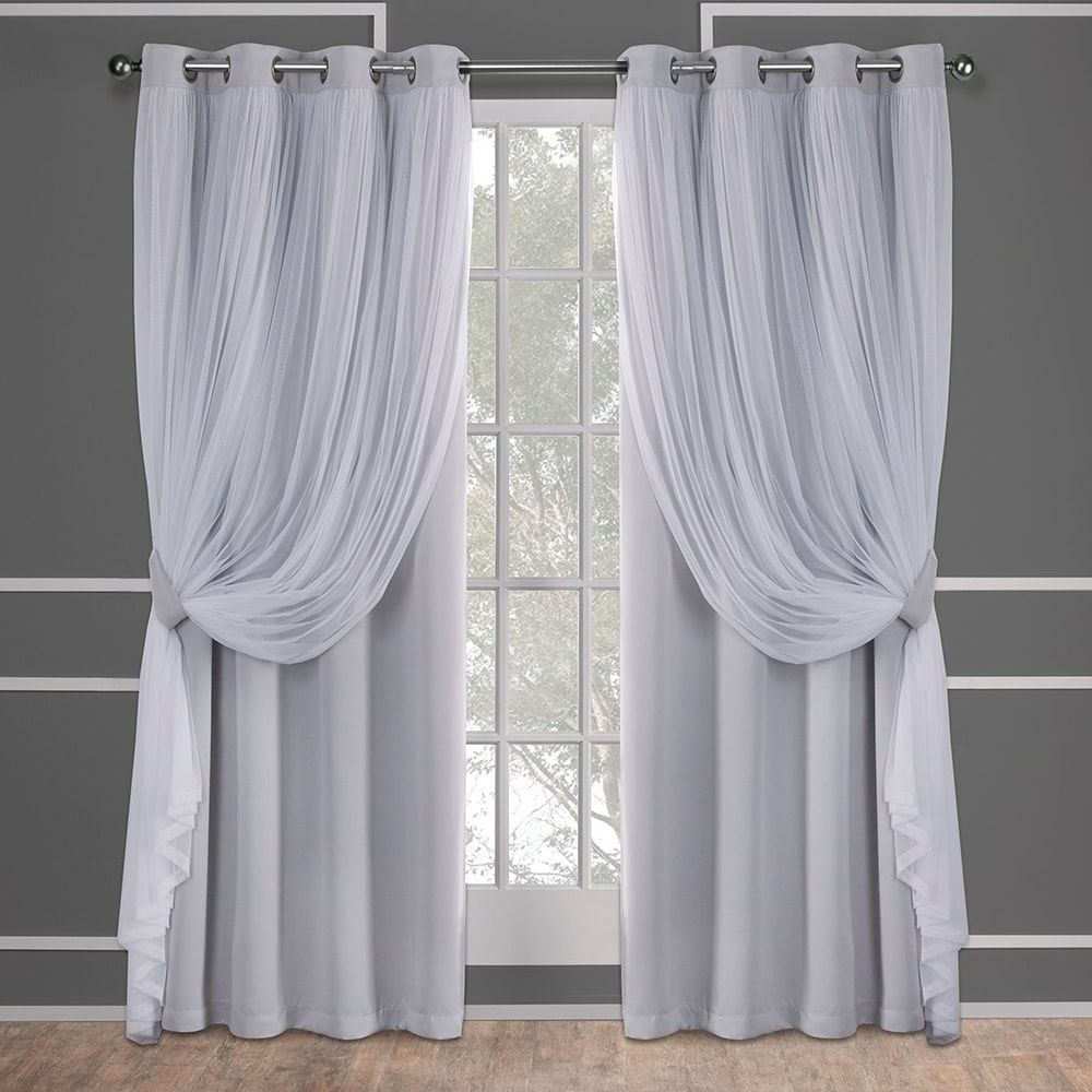 "Recent Catarina Layered Curtain Panel Pairs With Grommet Top In Ati Home Layered Curtain Panel Pair With Grommet Top (52""w X (View 7 of 20)"