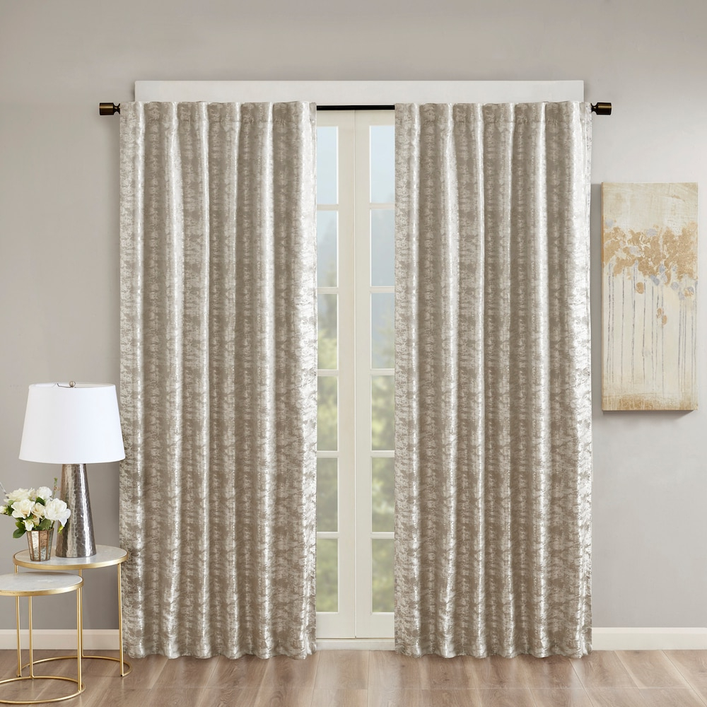 Recent Cyrus Thermal Blackout Back Tab Curtain Panels With Sunsmart Blackout 1 Panel Odessa Total Window Curtain (Gallery 12 of 20)