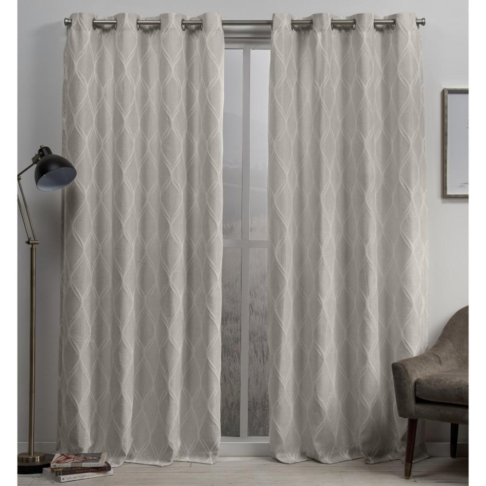 Recent Easton Thermal Woven Blackout Grommet Top Curtain Panel Pairs For Exclusive Home Curtains Sonos 54 In. W X 84 In (View 8 of 20)