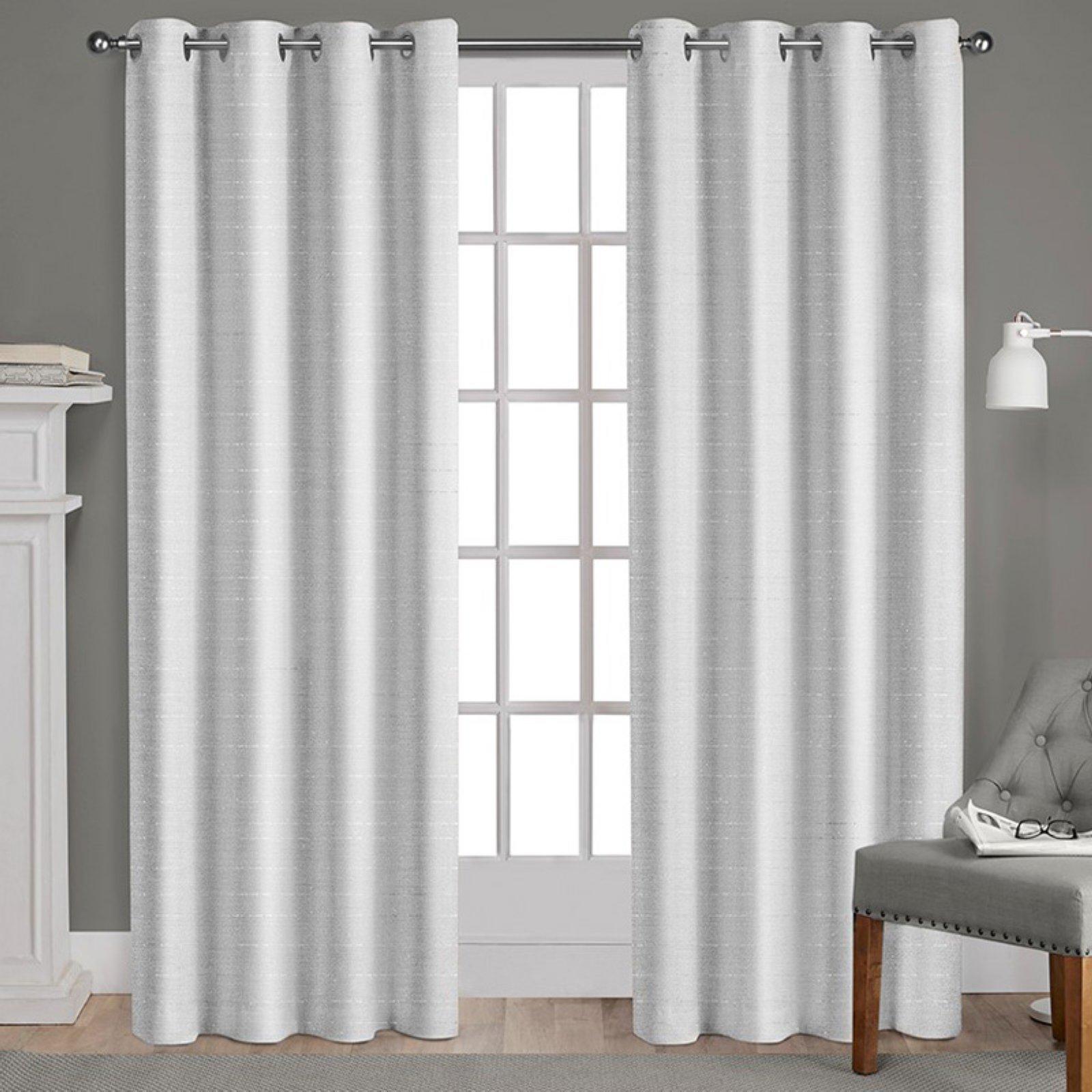 Recent Elegant Comfort Window Sheer Curtain Panel Pairs In Exclusive Home Whitby Metallic Slub Yarn Textured Silk Look (View 13 of 20)