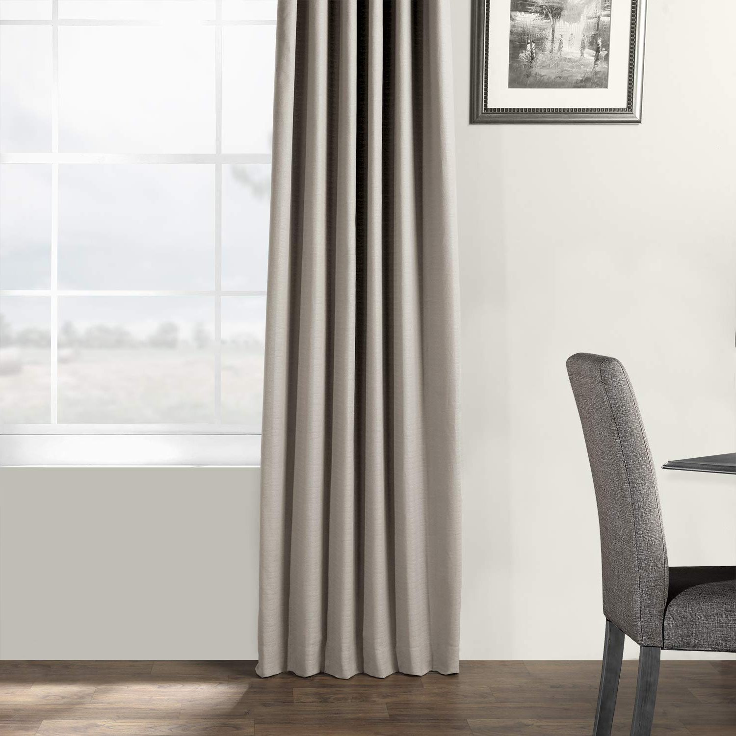 Recent Hpd Half Price Drapes Bark Weave Solid Cotton Curtain, Stardust Grey (grey) With Regard To Bark Weave Solid Cotton Curtains (View 5 of 20)