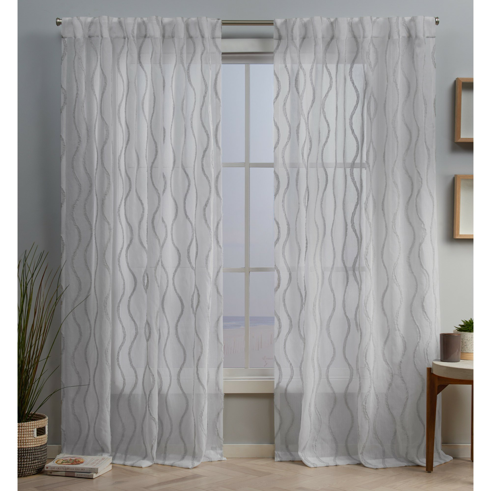 Recent Hulda Sheer Tab Top Panel Pair Pertaining To Twig Insulated Blackout Curtain Panel Pairs With Grommet Top (View 17 of 20)