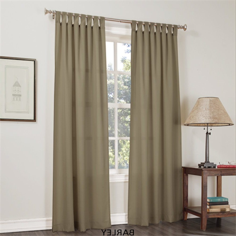 "Recent Jacob Basic Solid Tab Top Curtain Panel, Glacier 40""wx 84""l Intended For Jacob Tab Top Single Curtain Panels (View 12 of 20)"