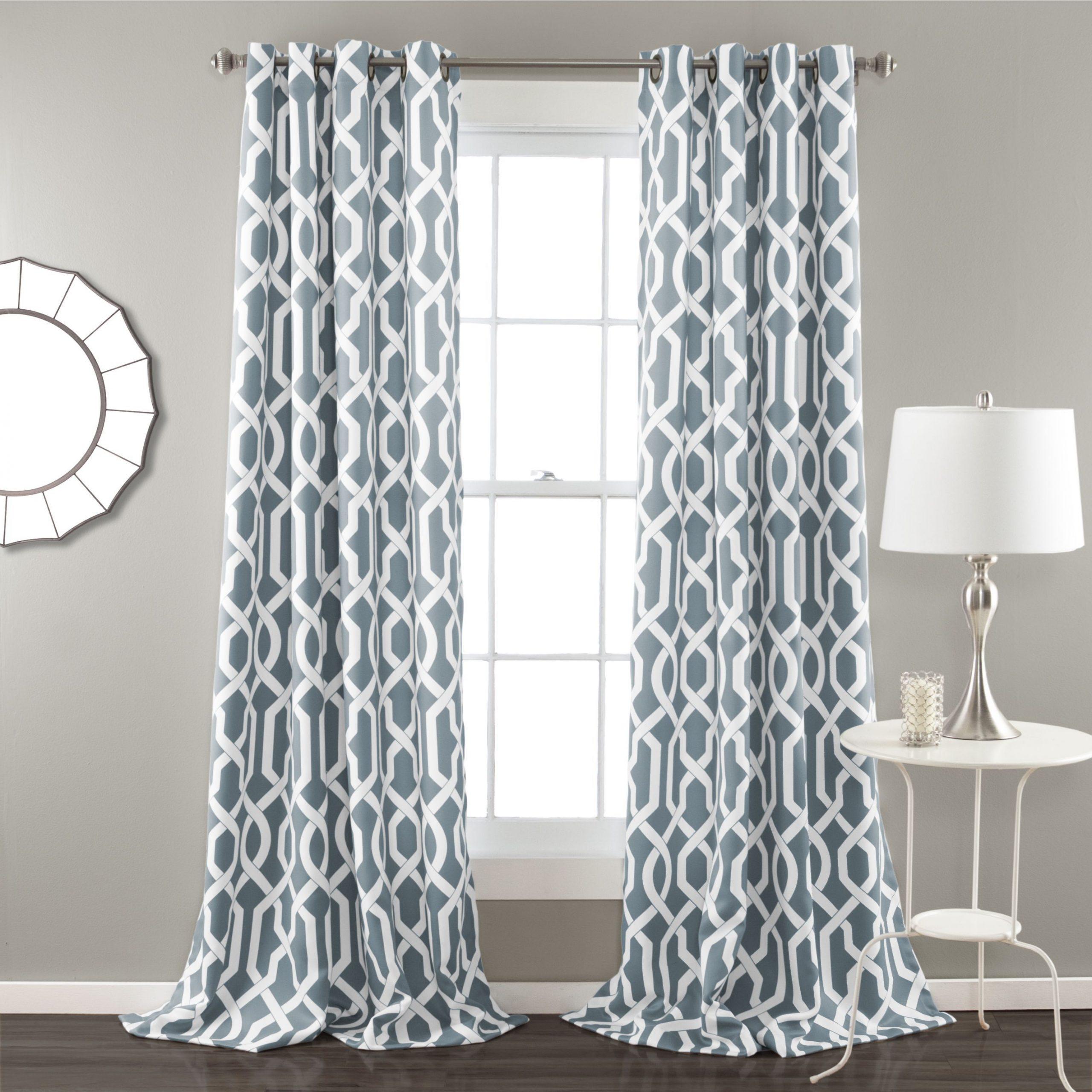 Recent Lush Decor Edward Moroccan Pattern Room Darkening Curtain Pertaining To Geometric Linen Room Darkening Window Curtains (View 17 of 20)