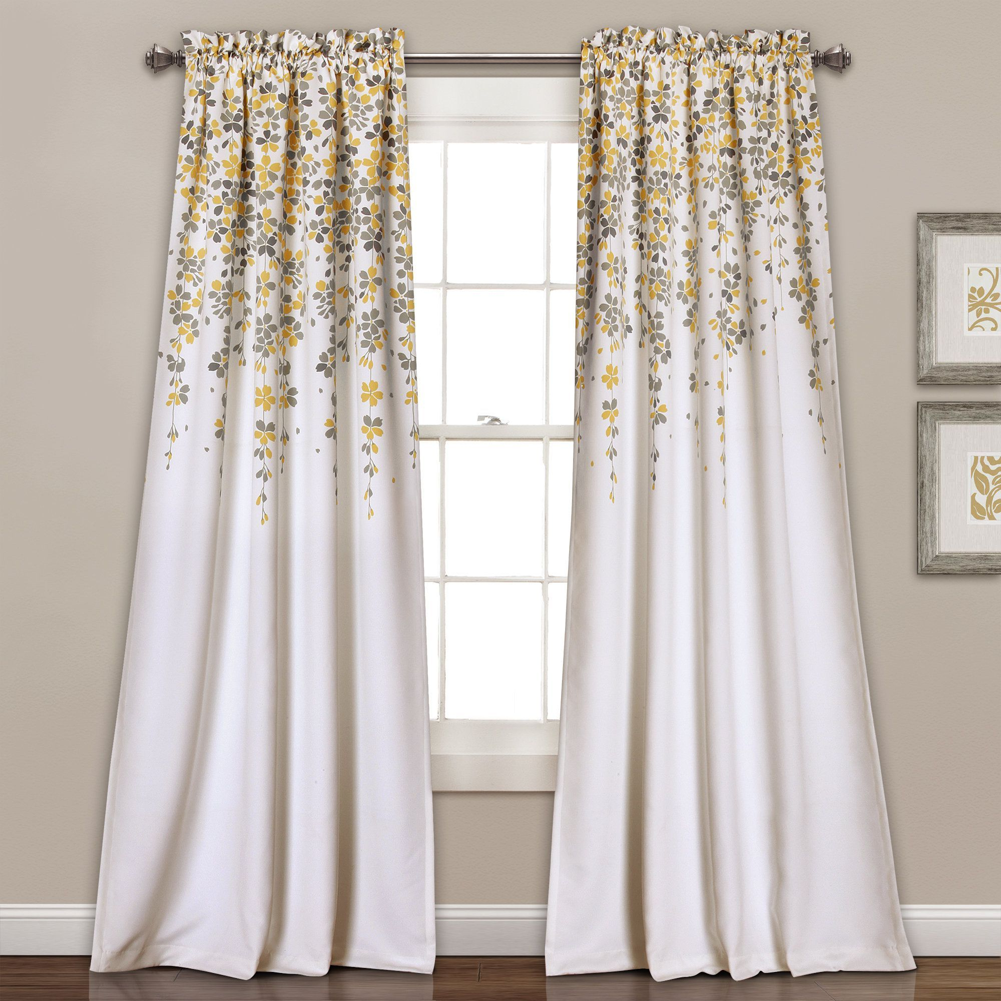 Recent Lush Decor Weeping Flowers Room Darkening Window Curtain In Room Darkening Window Curtain Panel Pairs (View 13 of 20)