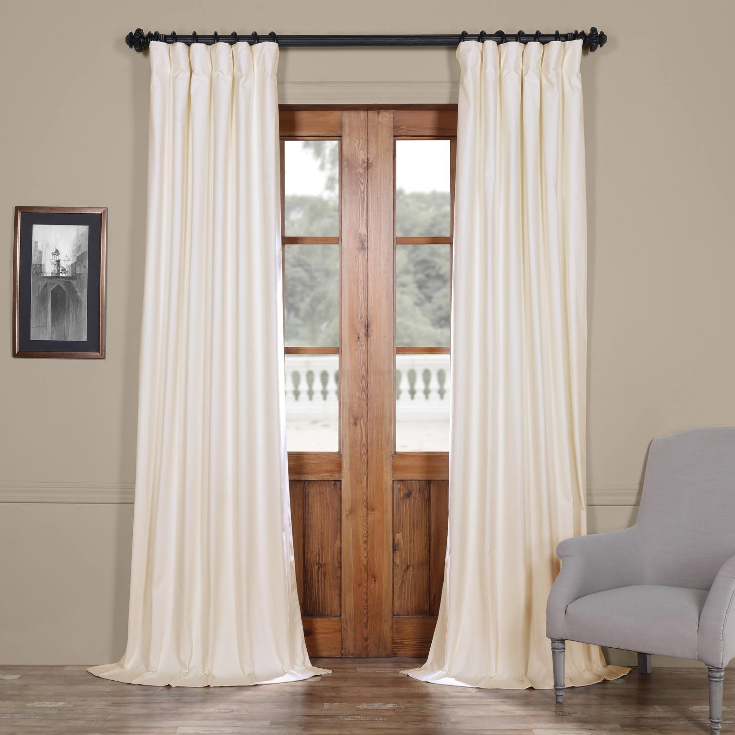 Recent Prct Bo01B 96 Solid Cotton Blackout Curtain, 50 X 96, Fresh Popcorn Within Solid Cotton True Blackout Curtain Panels (Gallery 2 of 20)