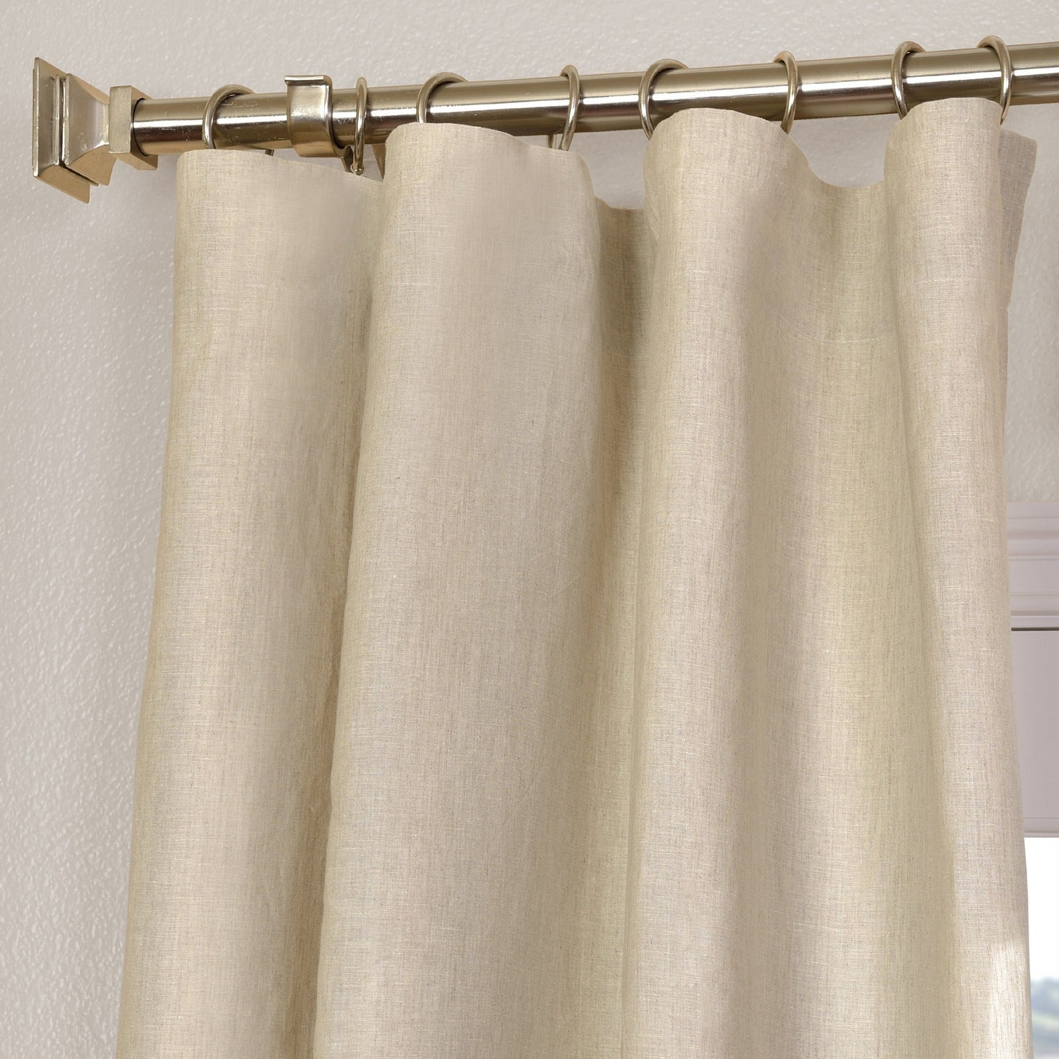 Recent Signature French Linen Curtain Panels Intended For Exclusive Fabrics Signature French Linen Curtain Panel (Gallery 7 of 20)