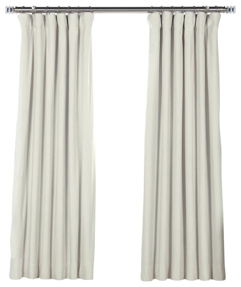 Recent Signature Off White Blackout Velvet Curtain Single Panel, 50W X 63L Throughout Signature Ivory Velvet Blackout Single Curtain Panels (View 14 of 20)