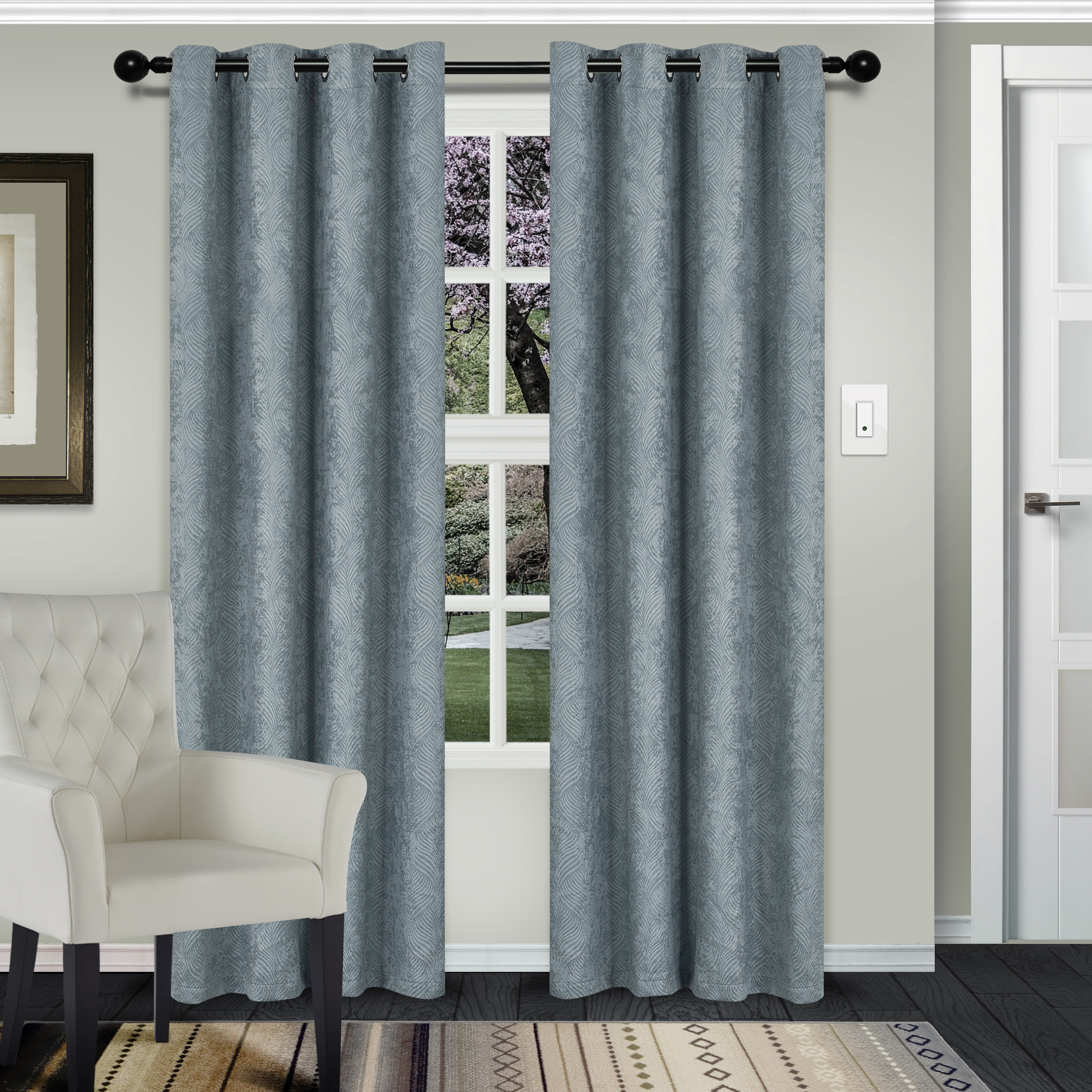 Recent Superior Waverly Textured Blackout Curtain Set Of 2, Thermal In Superior Solid Insulated Thermal Blackout Grommet Curtain Panel Pairs (View 6 of 20)