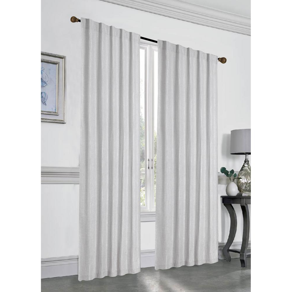 Recent Thermal Rod Pocket Blackout Curtain Panel Pairs Regarding Dainty Home Stacy 84 In. L Polyester Double Layered Rod Pocket With Thermal  Lining Window Curtain Panel Pair In Silver (2 Pack) (Gallery 8 of 20)