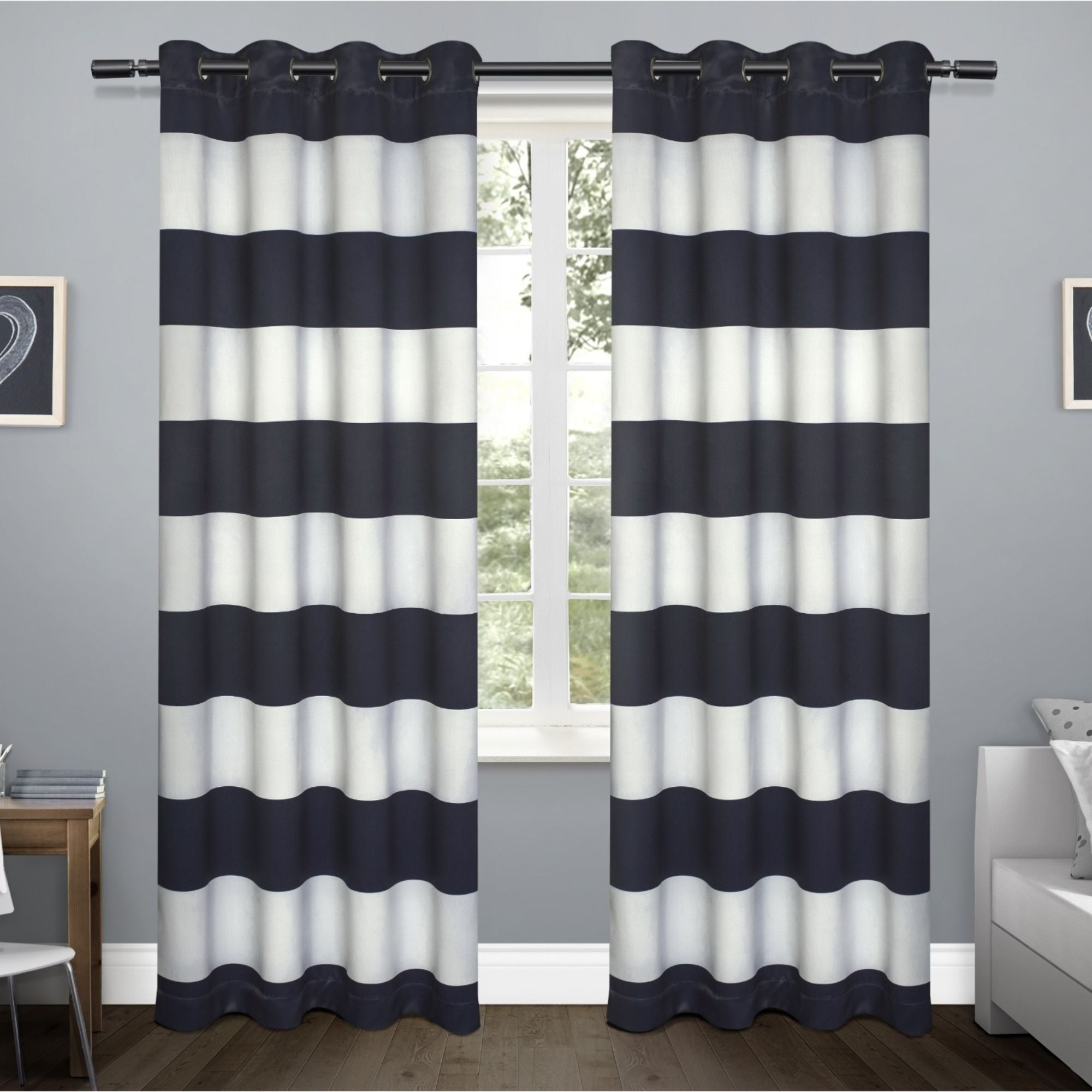 Recent Woven Blackout Curtain Panel Pairs With Grommet Top With Regard To Copper Grove Chirpan Sateen Woven Blackout Grommet Top Curtain Panel Pair (Gallery 15 of 20)