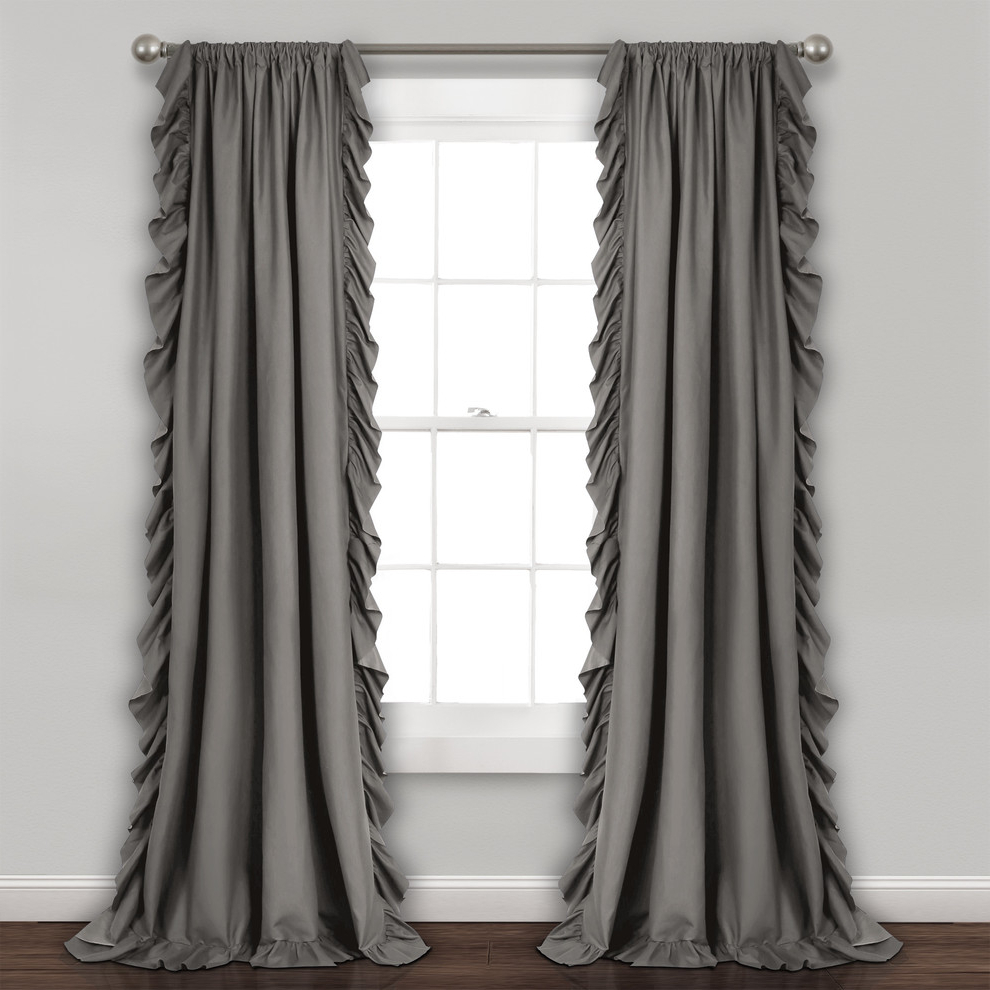 "Reyna Wp Gray Pair, 95""x54"" With Regard To Well Known Mid Century Geo Room Darkening Window Curtain Panel Pairs (Gallery 19 of 22)"