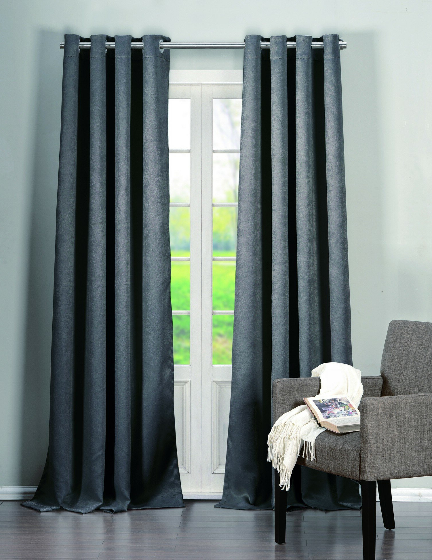 Ridgewood Solid Blackout Grommet Curtains In Latest Kaylee Solid Crushed Sheer Window Curtain Pairs (Gallery 20 of 20)