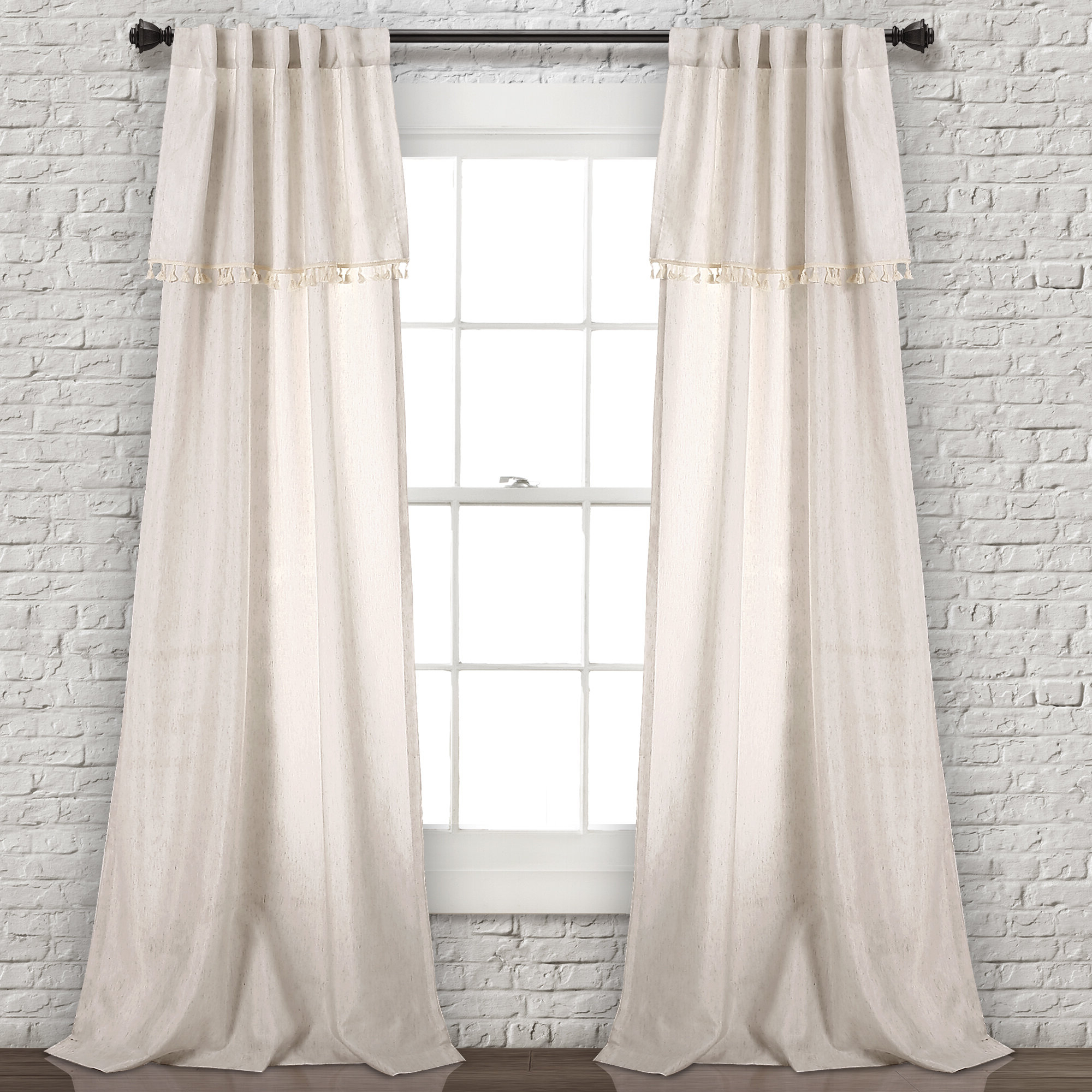 Rod Pocket Curtain Panels With Latest Maxwell Solid Semi Sheer Rod Pocket Curtain Panels (Gallery 12 of 20)