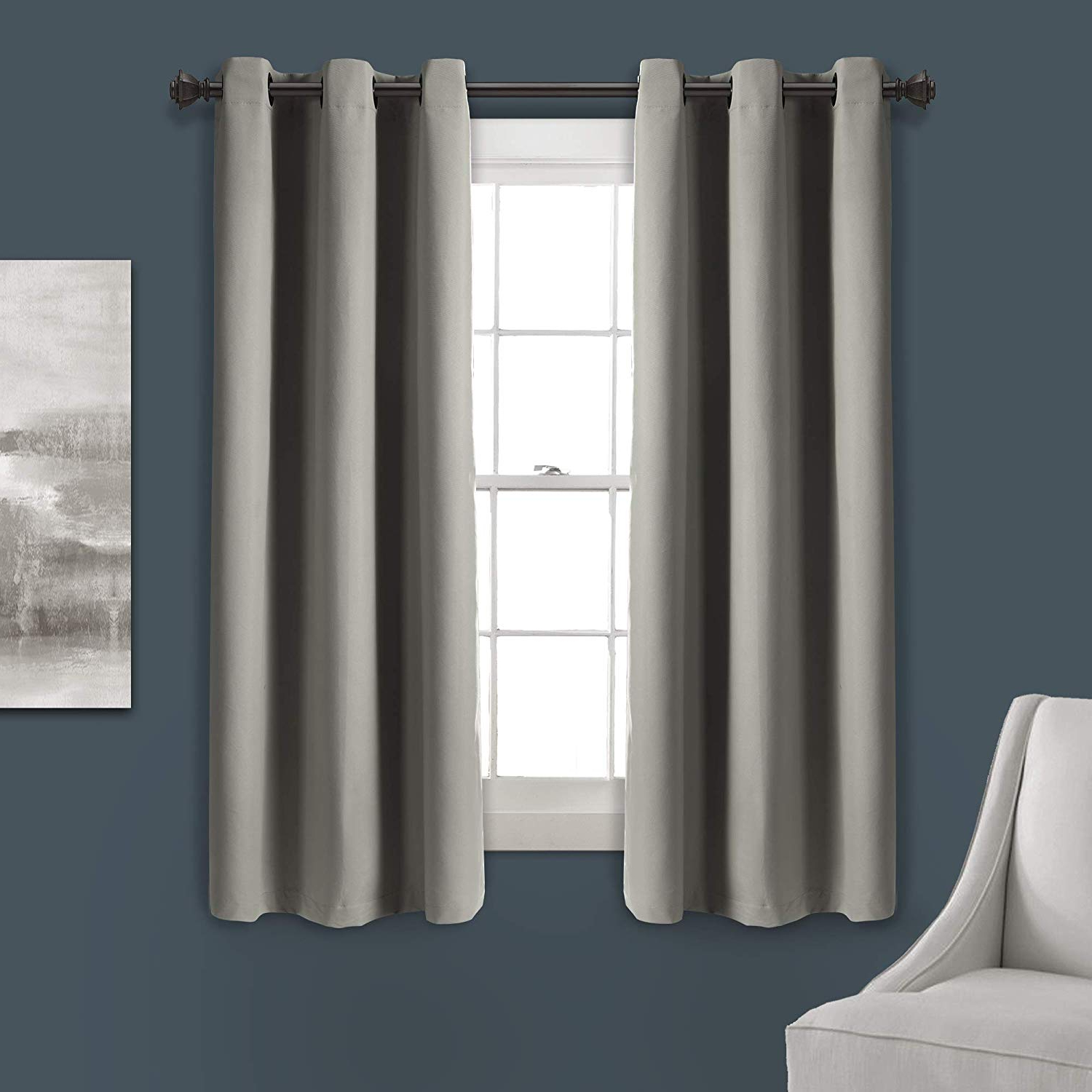 "Room Darkening, Energy Efficient, 63"" X 38"", Throughout Insulated Grommet Blackout Curtain Panel Pairs (View 8 of 20)"