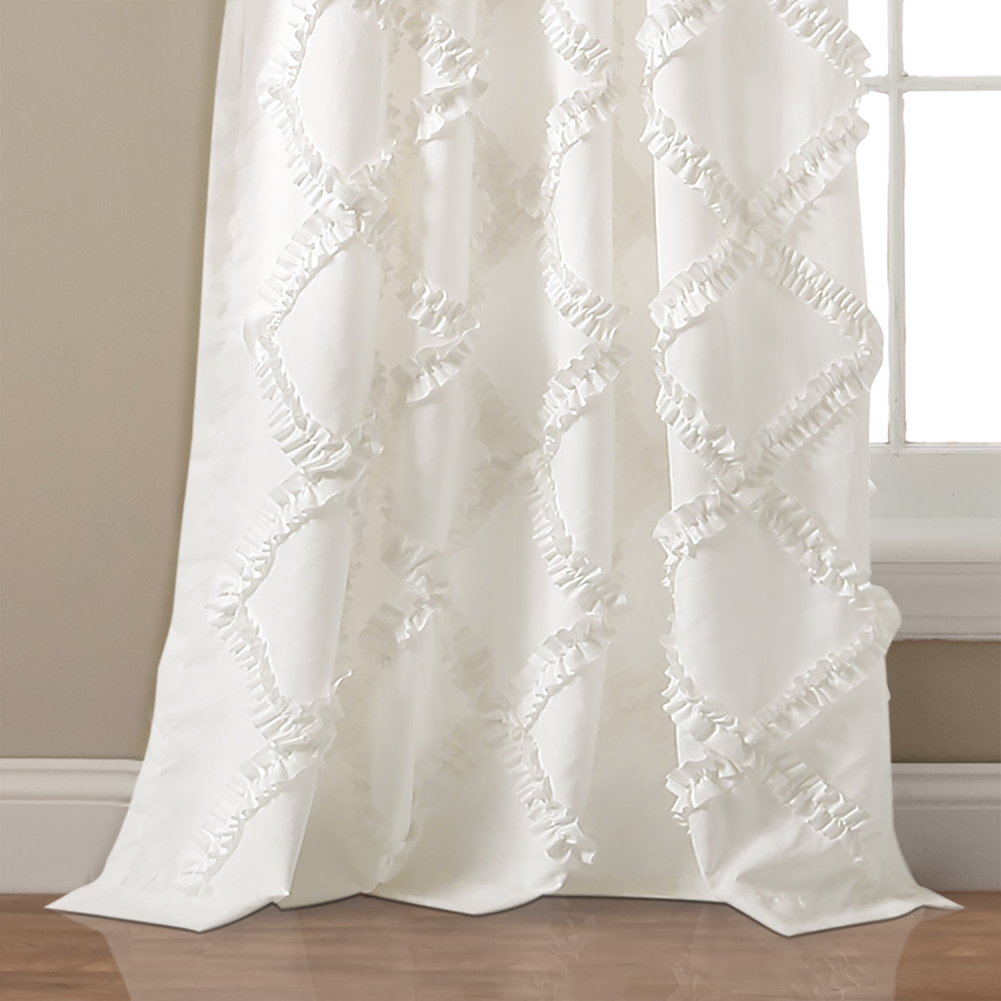 Ruffle Diamond Curtain Panel Pairs For Most Recent Lush Decor Ruffle Diamond Curtain Panel Pair (Gallery 9 of 20)