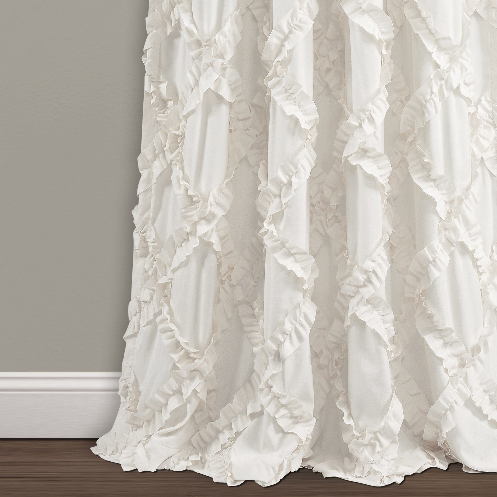 Ruffle Diamond Curtain Panel Pairs With Recent Lush Decor Ruffle Diamond Curtain Panel Pair (Gallery 11 of 20)