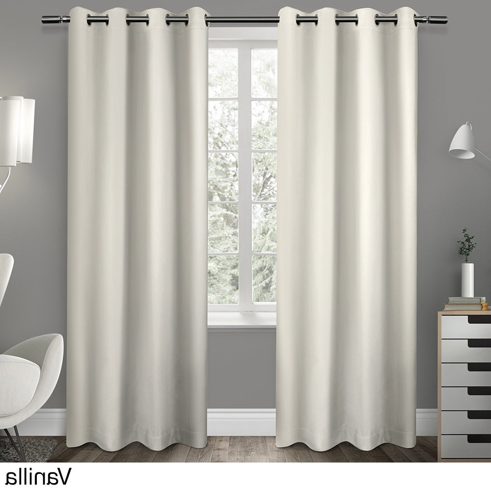 """Sateen Twill Weave Insulated Blackout Window Curtain Panel (Pair) 63"""" In  Vanilla (As Is Item) Within Latest Sateen Twill Weave Insulated Blackout Window Curtain Panel Pairs (View 15 of 20)"""