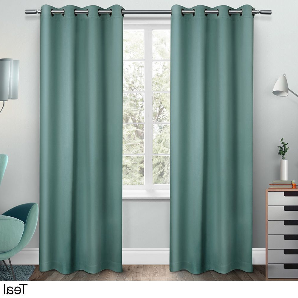 Sateen Twill Weave Insulated Blackout Window Curtain Panel Pairs Intended For Latest Ati Home Sateen Twill Weave Insulated Blackout Window (View 17 of 20)