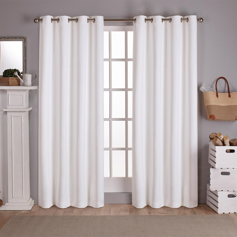 Sateen Twill Weave Insulated Blackout Window Curtain Panel Pairs Pertaining To Well Known Sateen Vanilla Twill Weave Blackout Grommet Top Window Curtain (View 3 of 20)