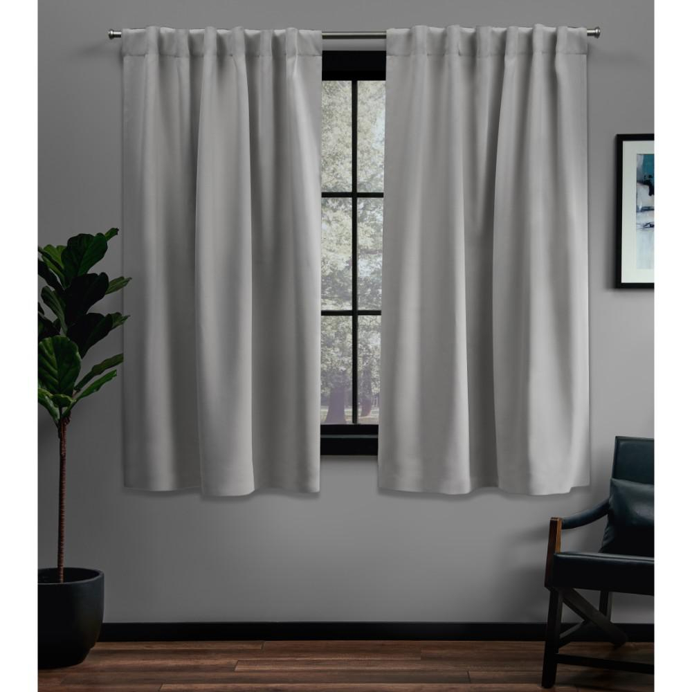 Sateen Woven Blackout Curtain Panel Pairs With Pinch Pleat Top For Widely Used Exclusive Home Curtains Sateen 52 In. W X 63 In (View 13 of 20)