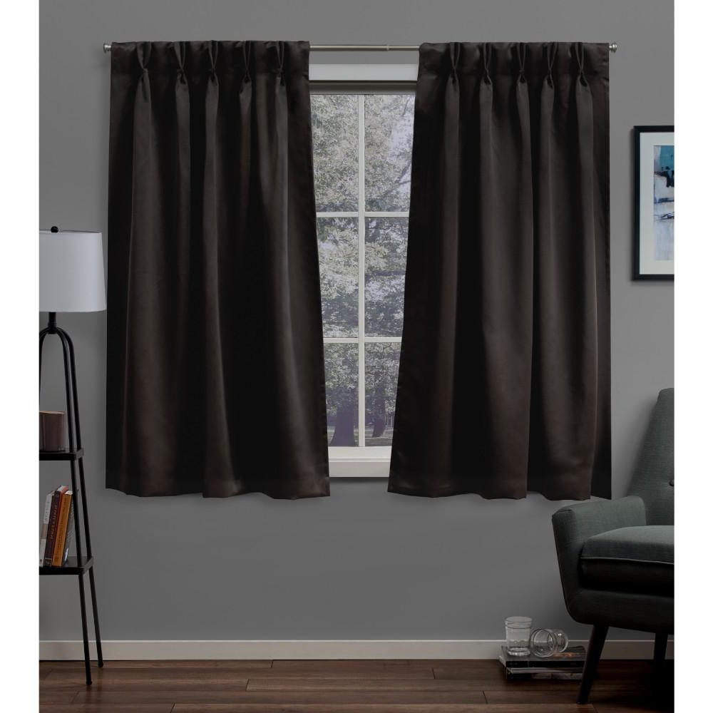 Sateen Woven Blackout Curtain Panel Pairs With Pinch Pleat Top In Most Recent Exclusive Home Curtains Sateen 30 In. W X 63 In (View 14 of 20)