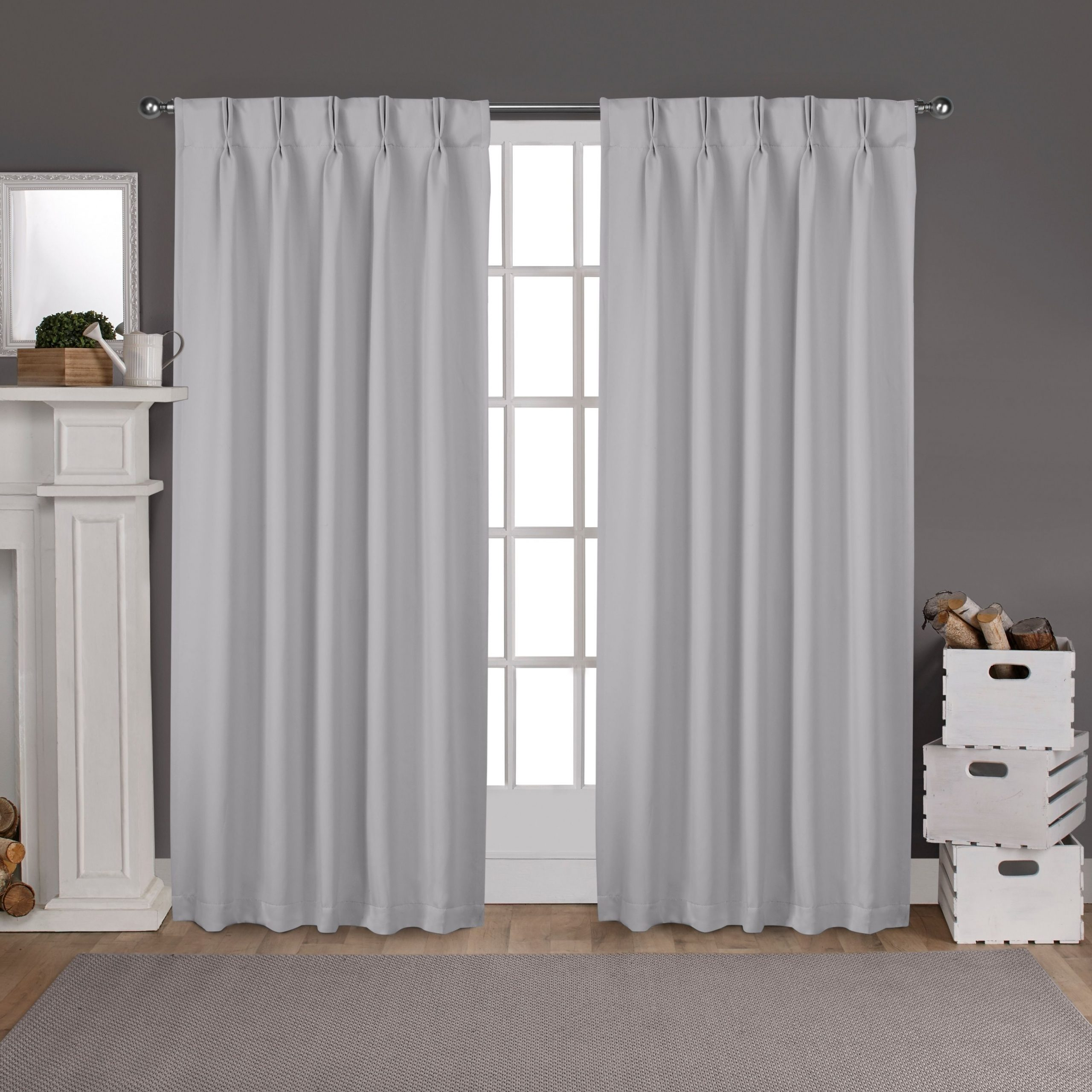 Sateen Woven Blackout Curtain Panel Pairs With Pinch Pleat Top Intended For Popular Ati Home Sateen Woven Blackout Curtain Panel Pair With Pinch (View 6 of 20)
