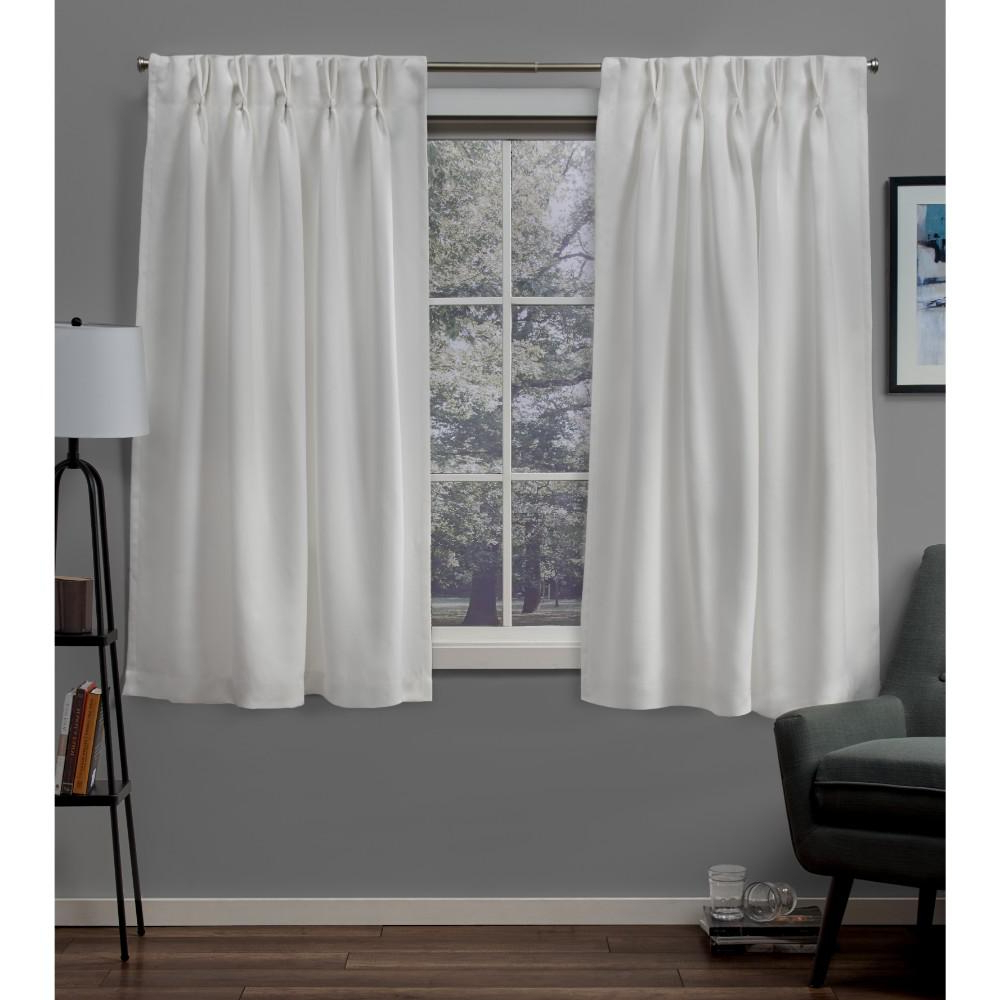 Sateen Woven Blackout Curtain Panel Pairs With Pinch Pleat Top Throughout Current Exclusive Home Curtains Sateen 30 In. W X 63 In (View 10 of 20)