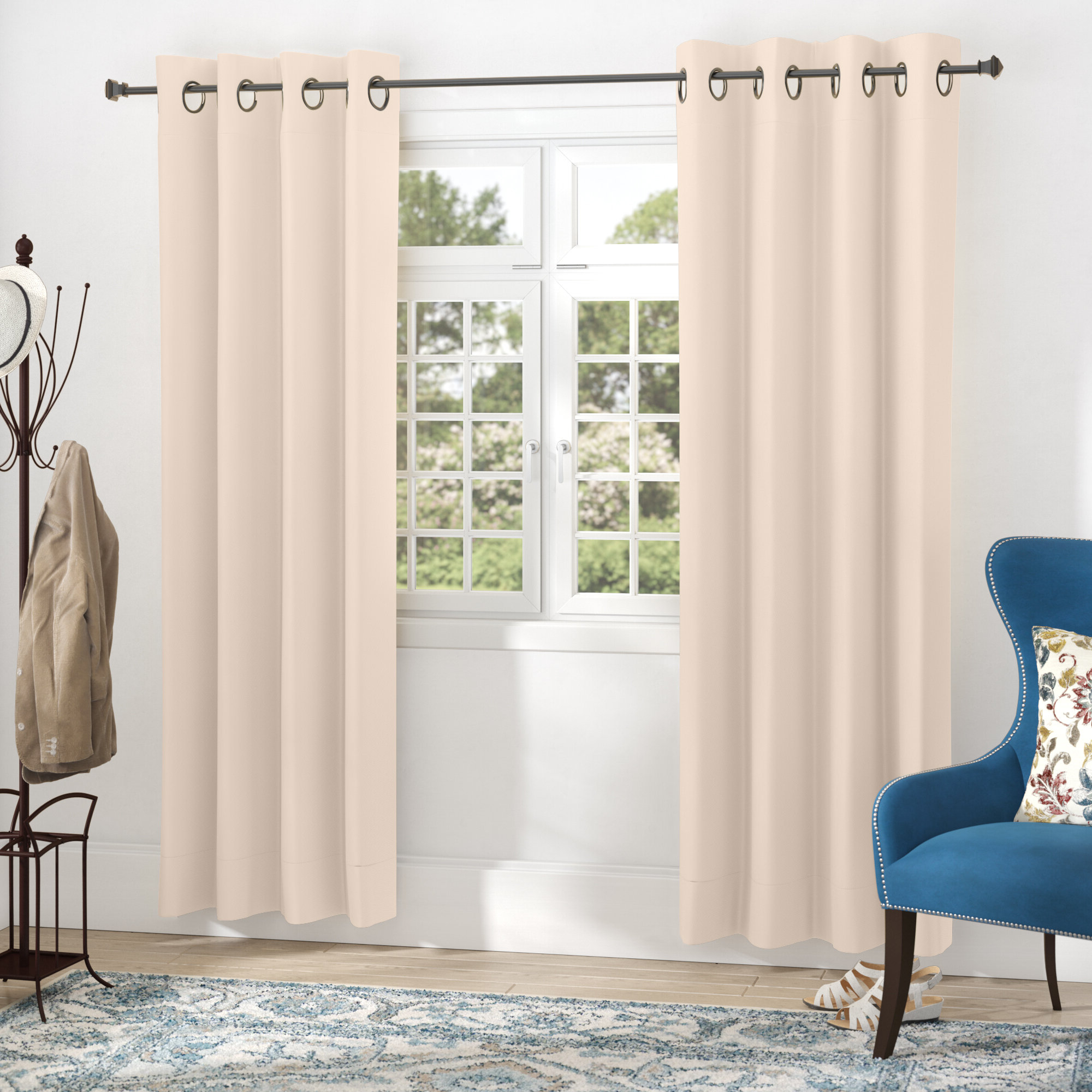 Schaeffer Solid Blackout Thermal Grommet Curtain Panels With 2020 Blackout Grommet Curtain Panels (View 18 of 20)