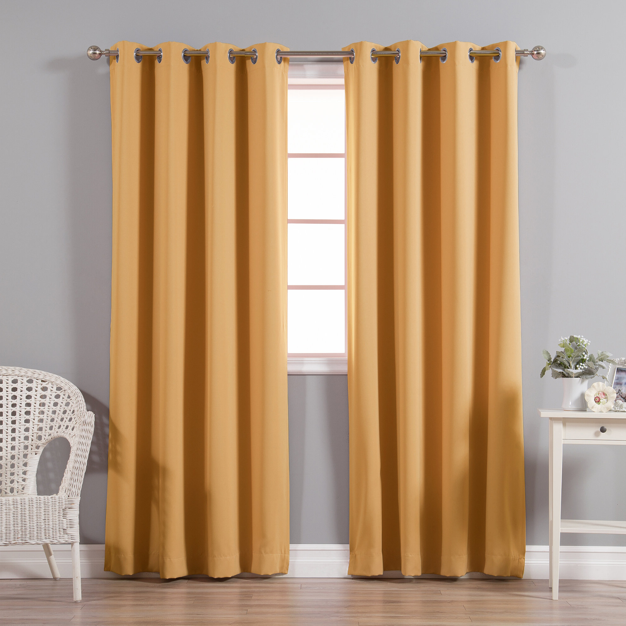 Schaeffer Solid Blackout Thermal Grommet Curtain Panels With Regard To Most Recently Released Antique Silver Grommet Top Thermal Insulated Blackout Curtain Panel Pairs (View 14 of 20)