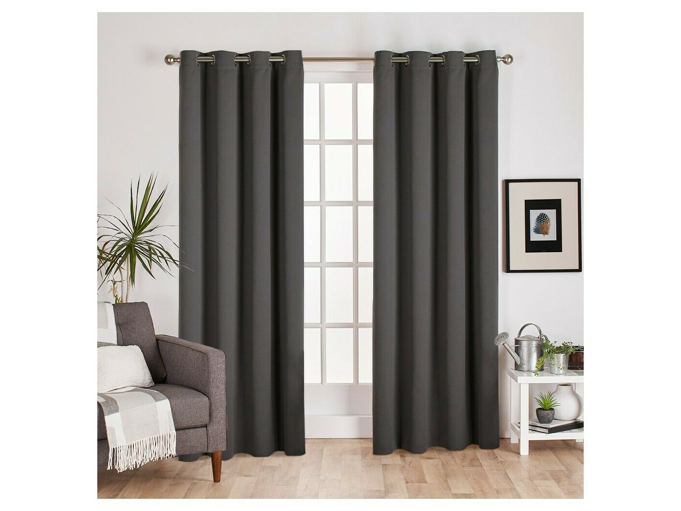 Set Of 2 Sateen Twill Weave Insulated Blackout Grommet Top Regarding Widely Used Sateen Twill Weave Insulated Blackout Window Curtain Panel Pairs (View 20 of 20)