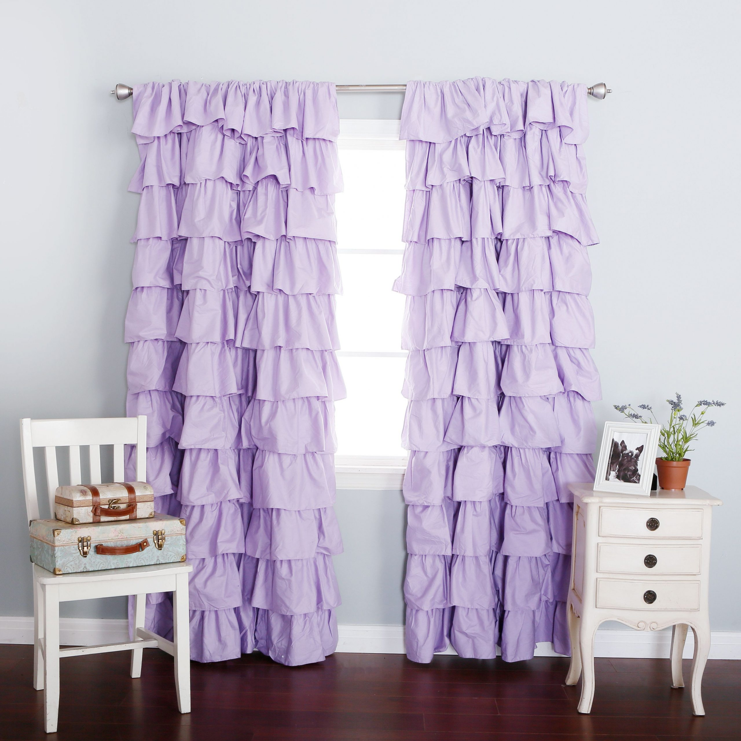 Sheer Voile Waterfall Ruffled Tier Single Curtain Panels Regarding Current Lilac Blackout Large Waterfall Ruffle Curtain Soft And (View 13 of 20)
