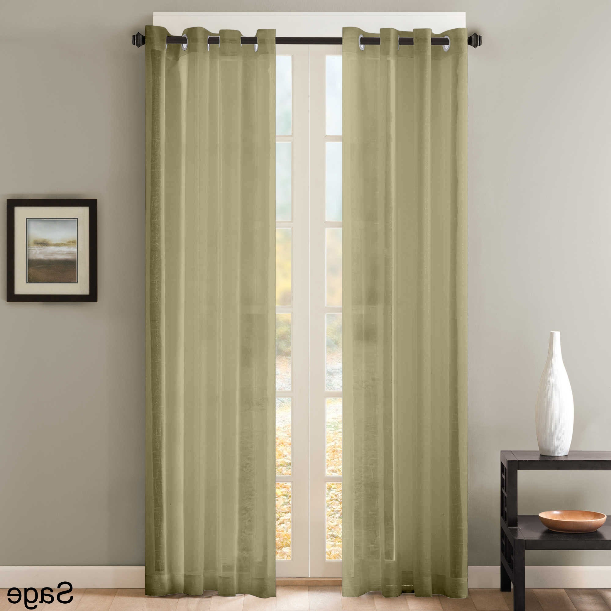 Sheer Window Curtain Grommet Curtain Panel Pair With Regard To Most Current Luxury Collection Venetian Sheer Curtain Panel Pairs (View 7 of 20)