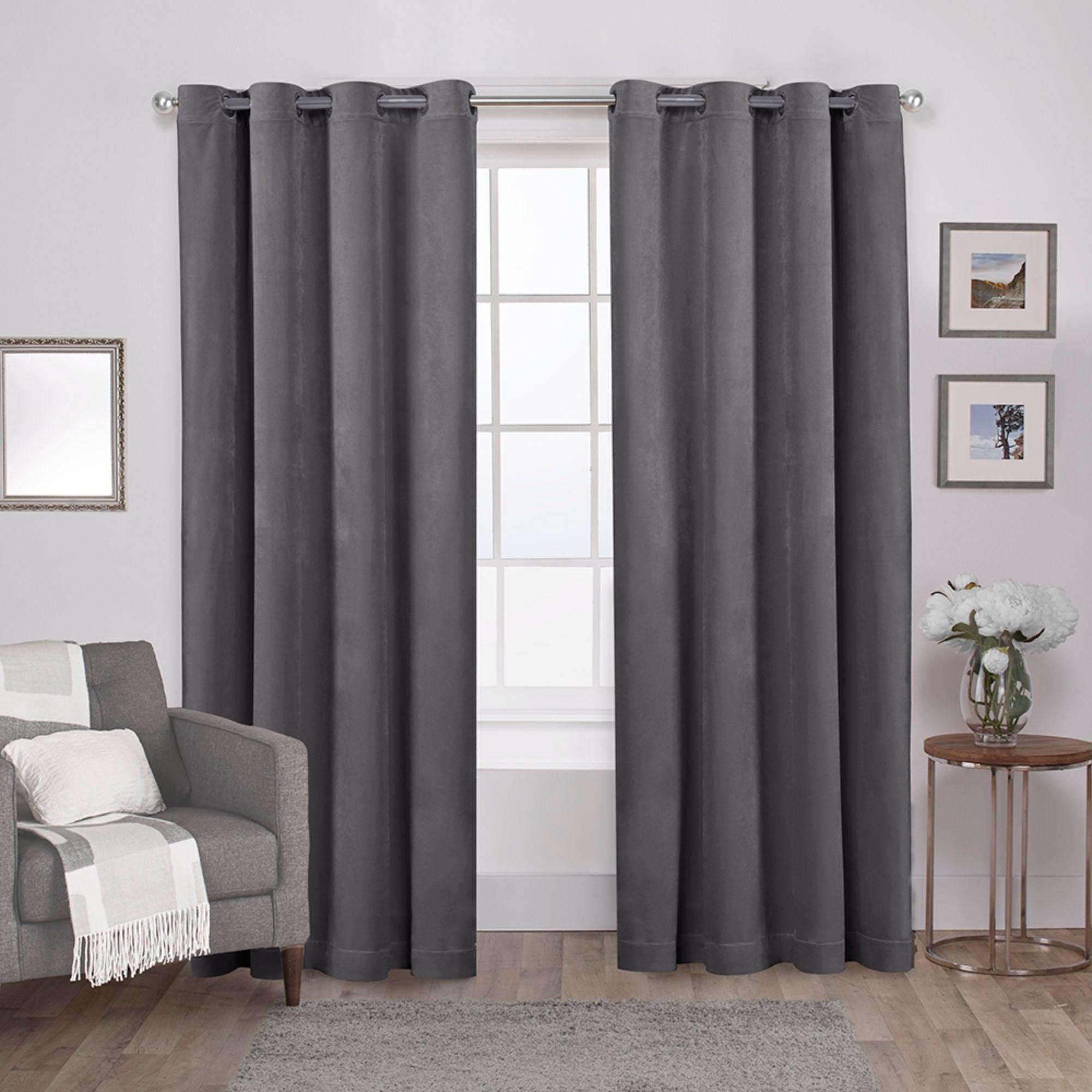 Shop Ati Home Velvet Heavyweight Grommet Top Curtain Panel Throughout Trendy Velvet Heavyweight Grommet Top Curtain Panel Pairs (View 3 of 20)