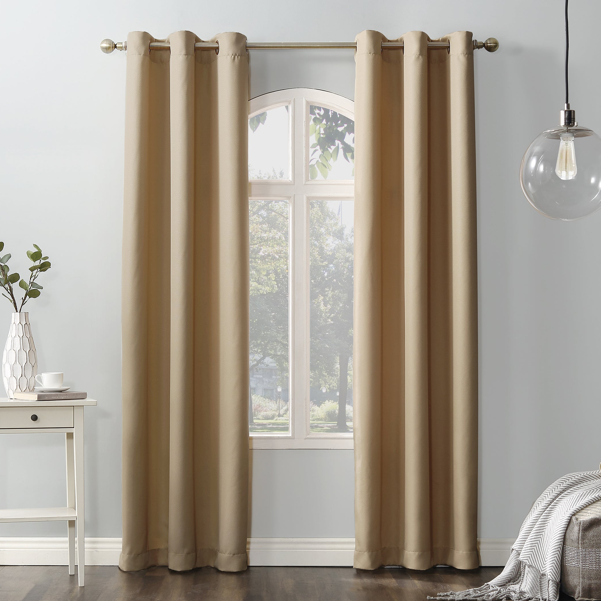 Featured Photo of Copper Grove Speedwell Grommet Window Curtain Panels