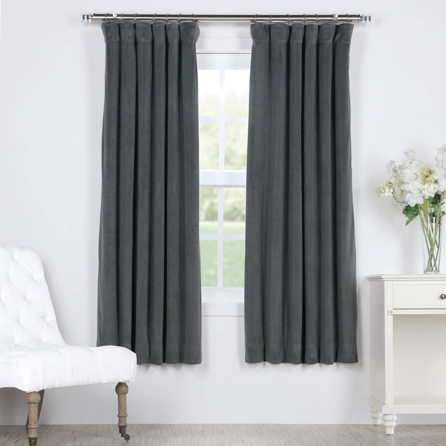 Signature Blackout Velvet Curtains For 2021 Amazon: Hpd Half Price Drapes Vpch 184005 63 Signature (View 9 of 20)