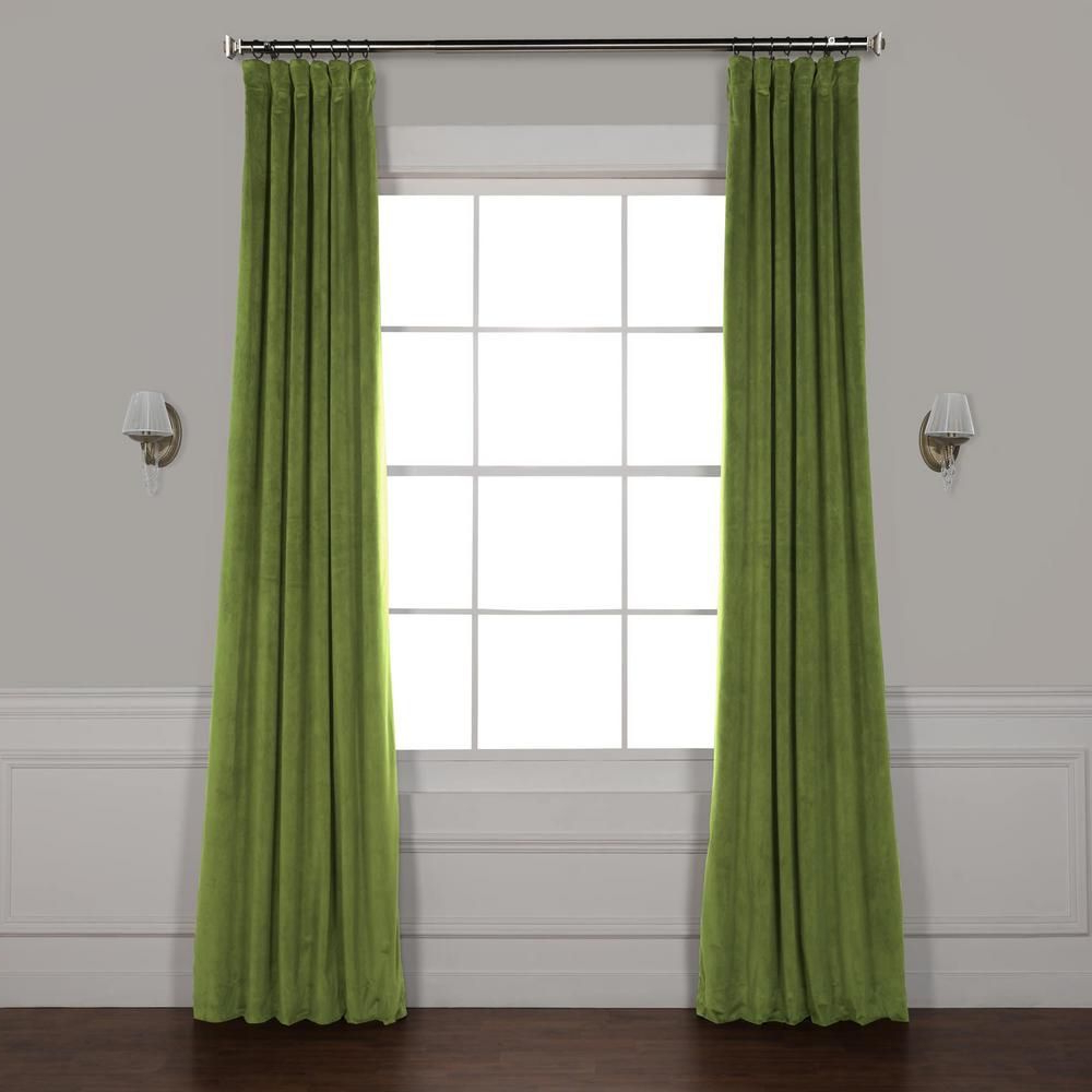 Signature Blackout Velvet Curtains For Most Current Exclusive Fabrics & Furnishings Signature Basque Green (View 11 of 20)