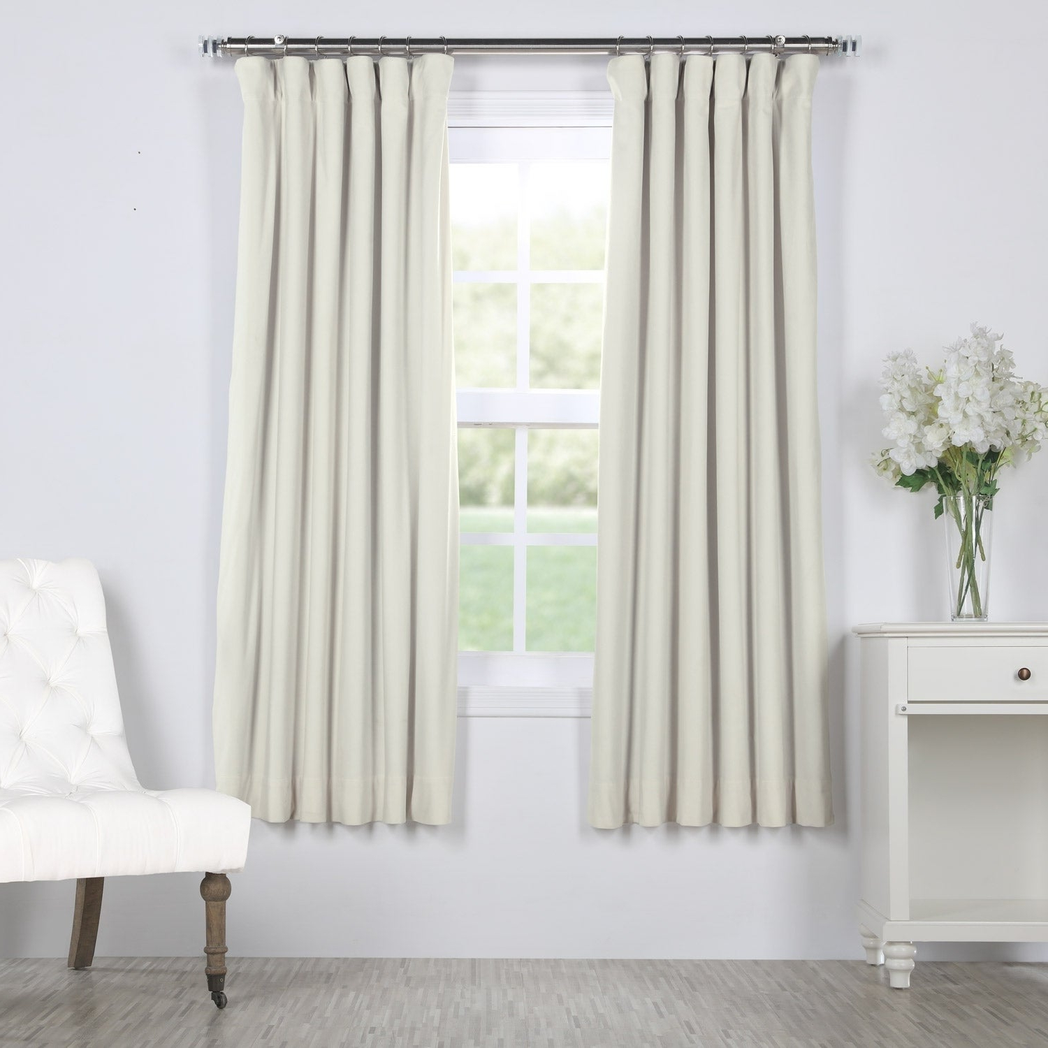 "Signature Blackout Velvet Curtains Pertaining To Latest Exclusive Fabrics Signature Blackout Velvet 63"" Length Curtain – 50 X  (View 13 of 20)"