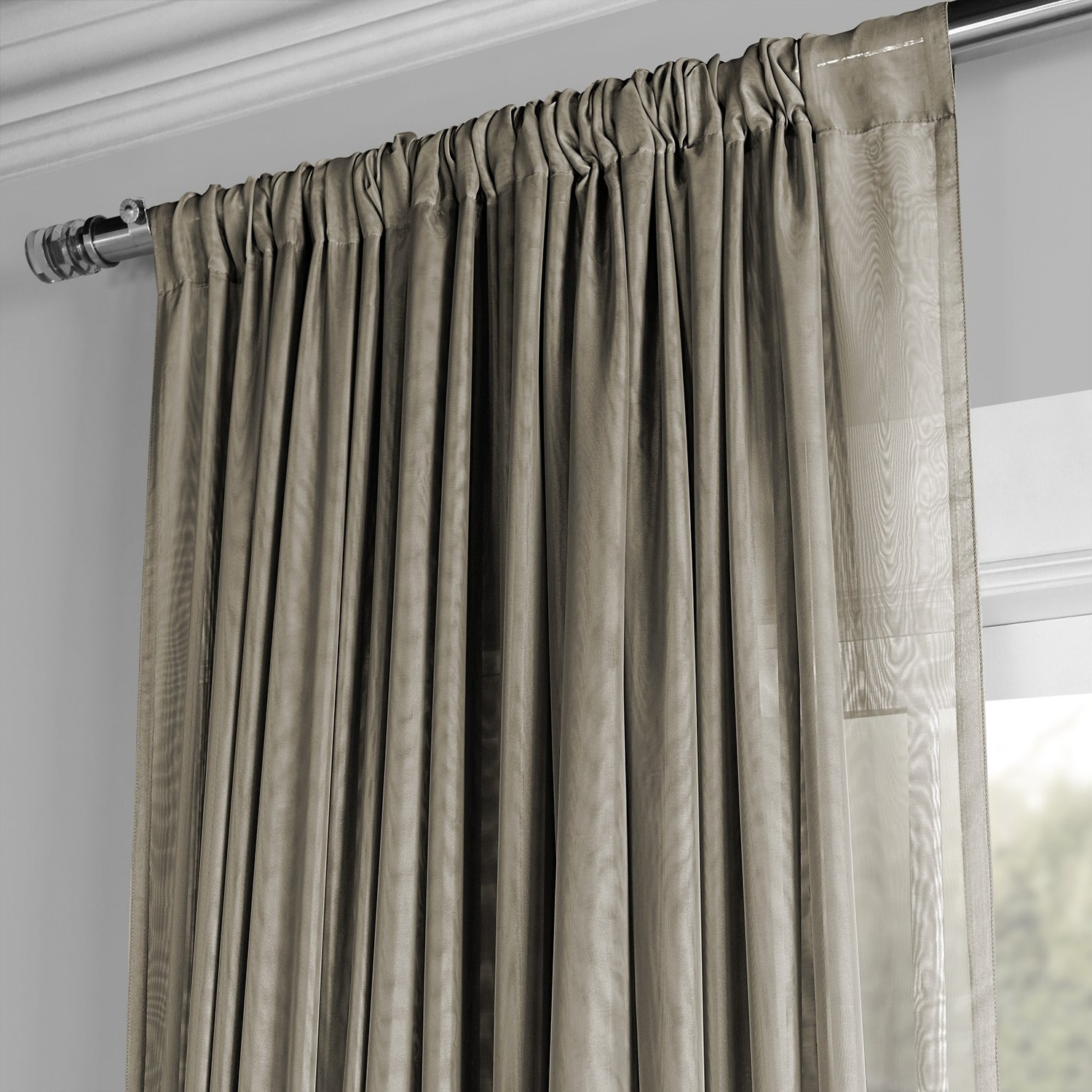 Signature Extrawide Double Layer Sheer Curtain Panels Intended For 2020 Exclusive Fabrics Signature Extrawide Double Layer Sheer Curtain Panel (View 7 of 20)