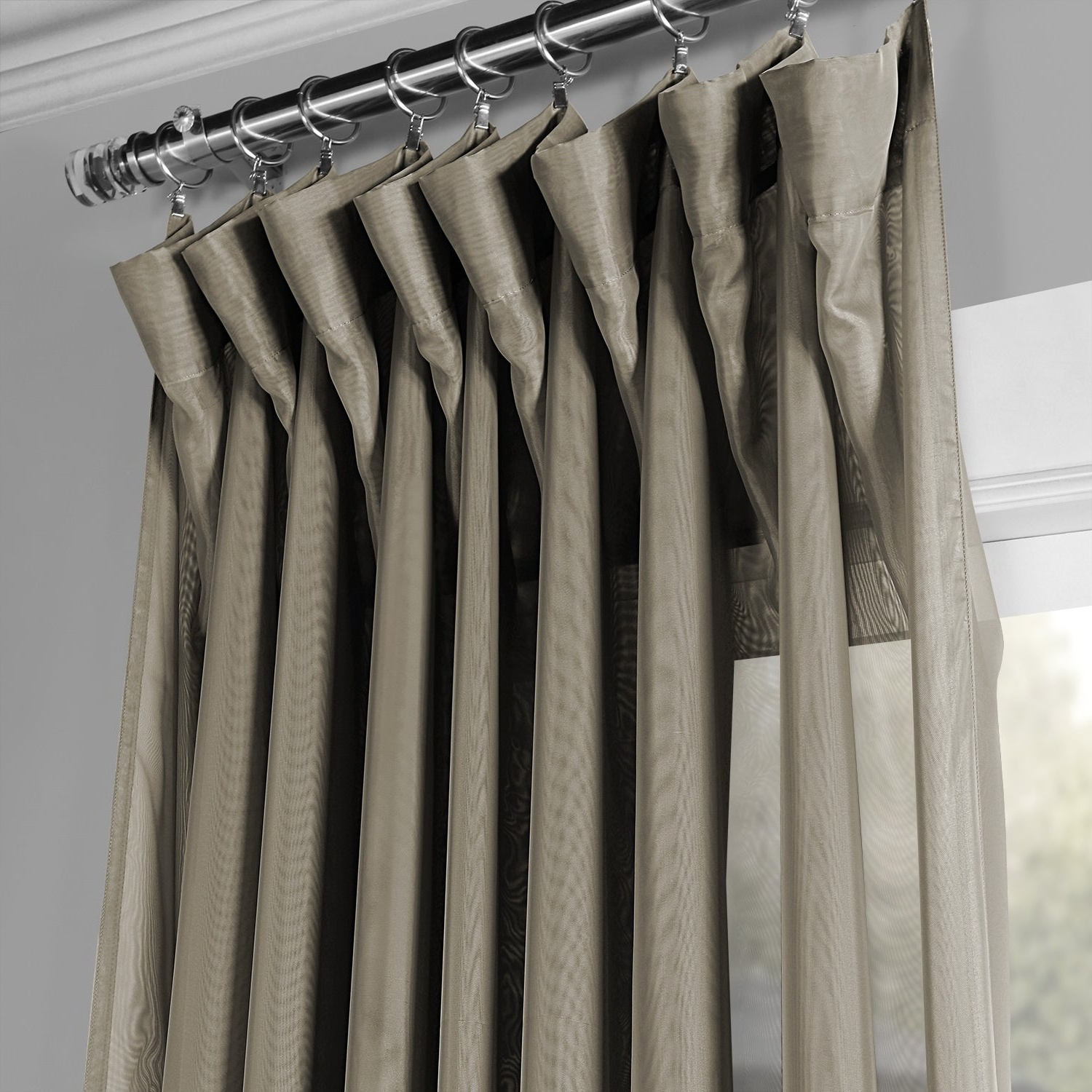 Signature Extrawide Double Layer Sheer Curtain Panels Pertaining To Favorite Exclusive Fabrics Signature Extrawide Double Layer Sheer Curtain Panel (View 9 of 20)
