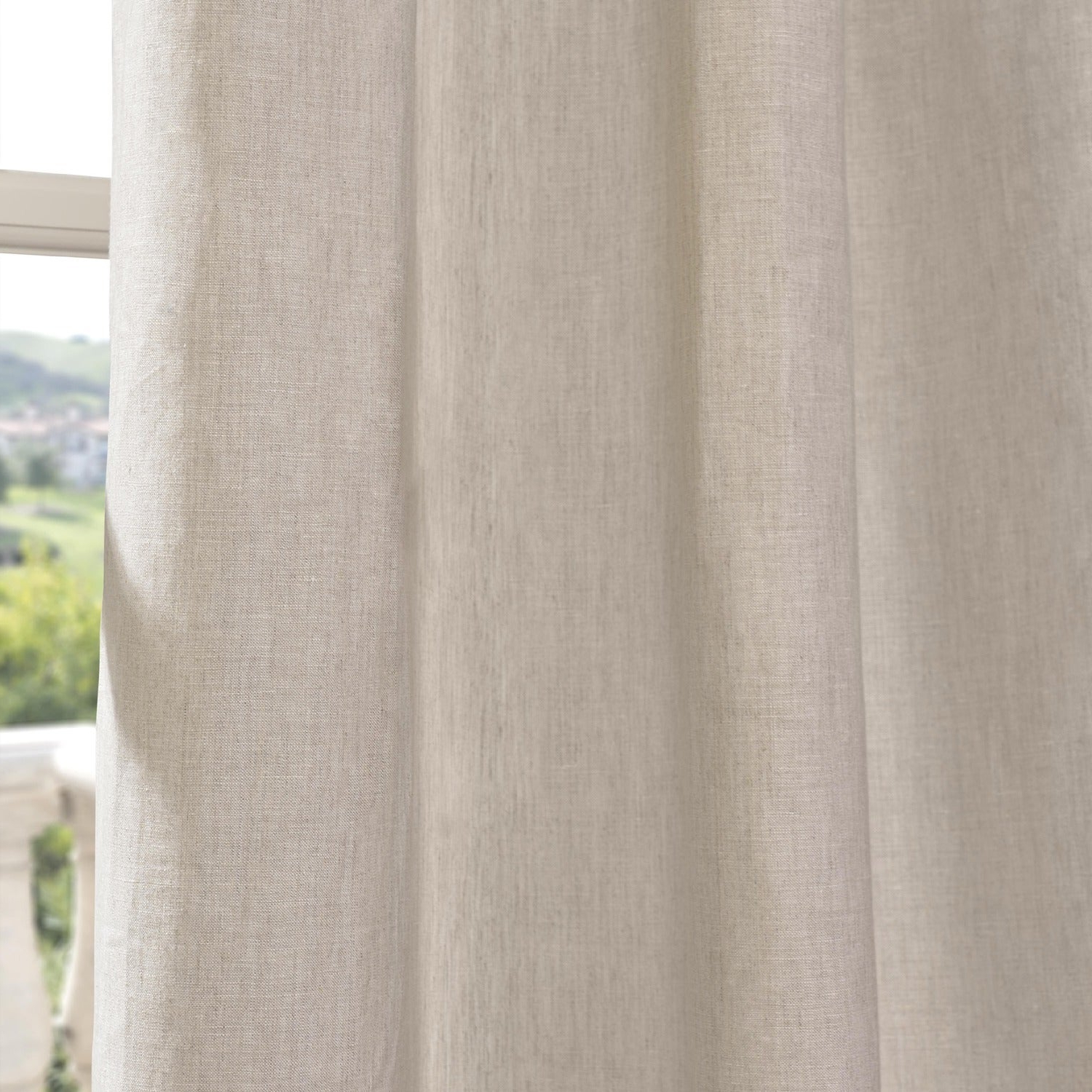 Signature French Linen Curtain Panels For Fashionable Exclusive Fabrics Signature French Linen Curtain Panel (View 11 of 20)