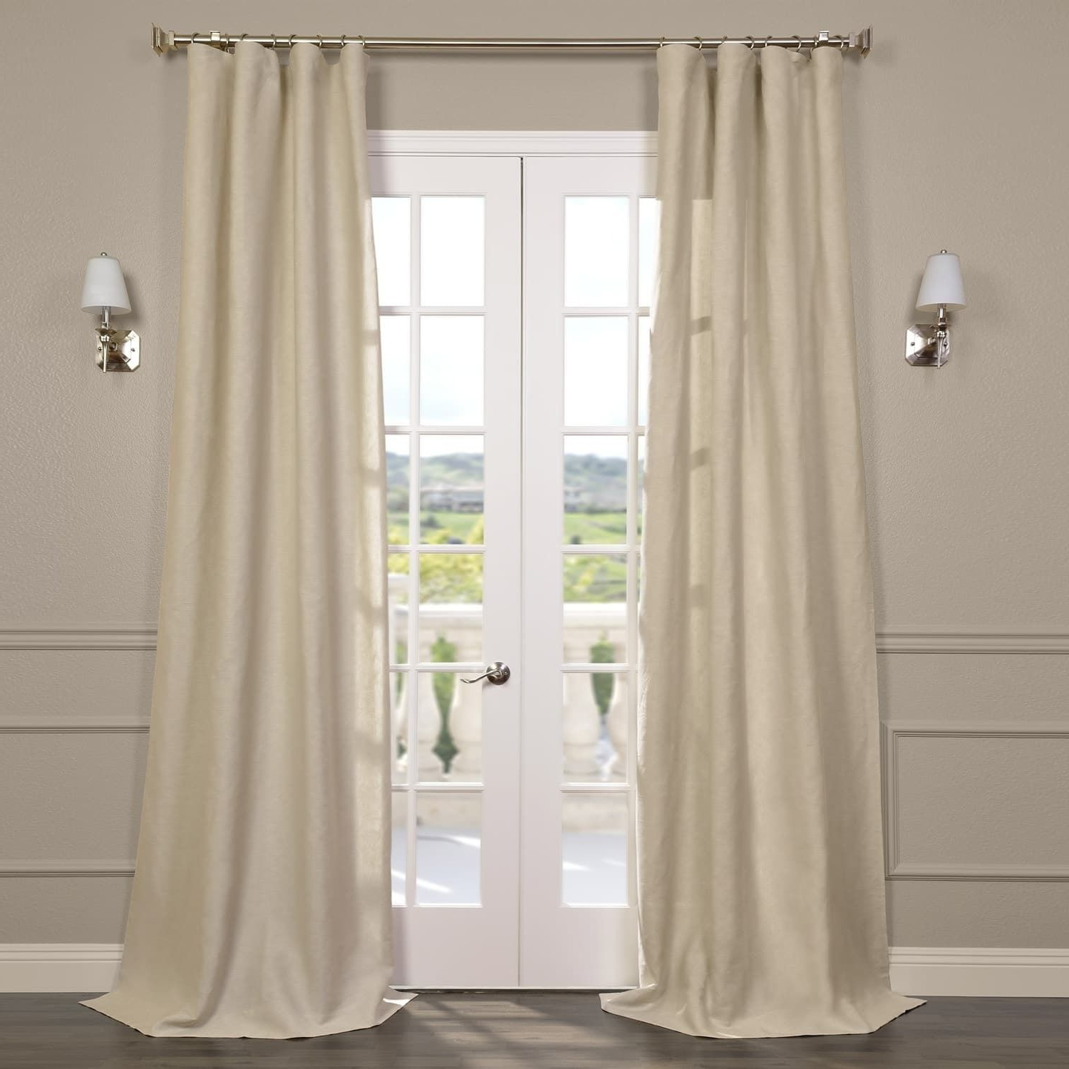 Signature French Linen Curtain Panels Throughout Newest Exclusive Fabrics Signature French Linen Curtain Panel ( (View 3 of 20)