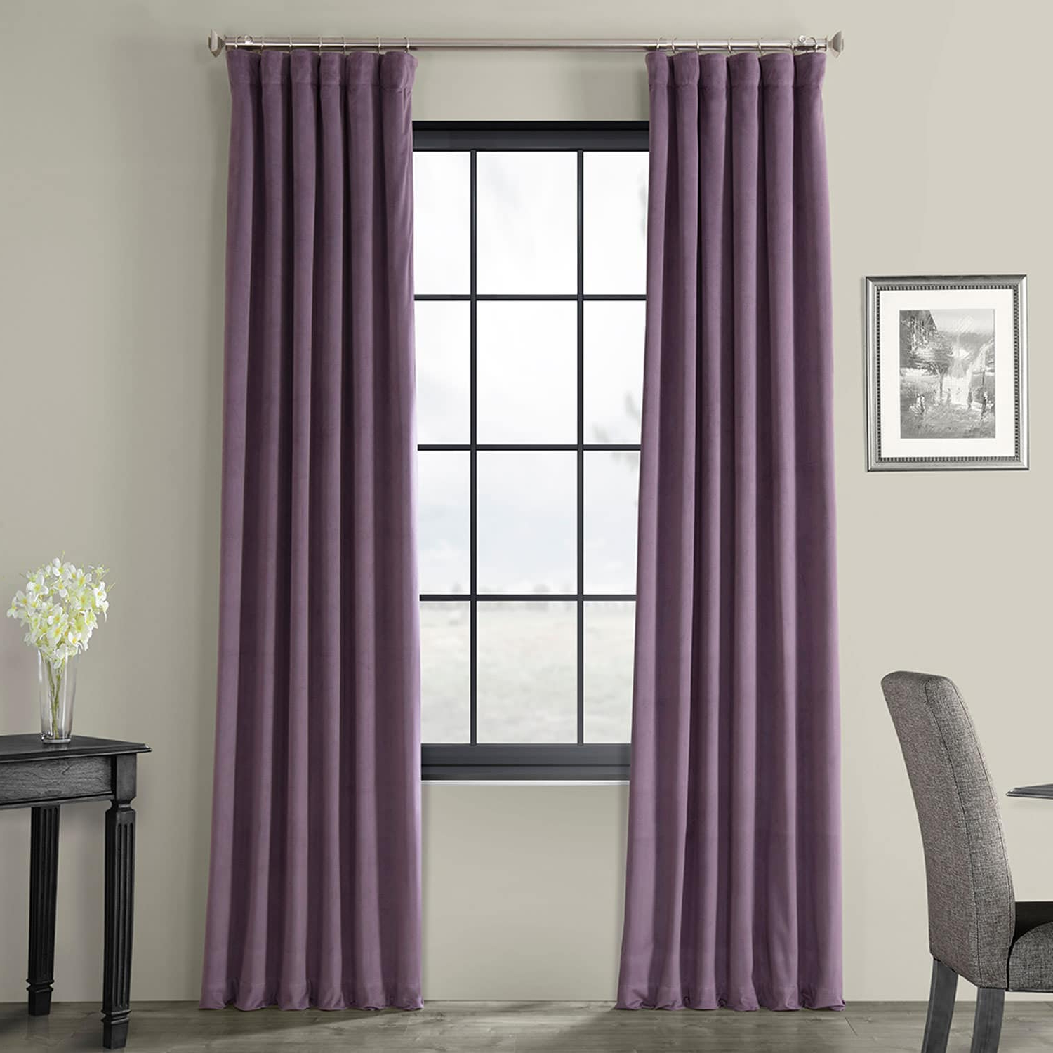 Signature Fresh Violet Blackout Velvet Curtain In Most Current Signature Blackout Velvet Curtains (View 16 of 20)