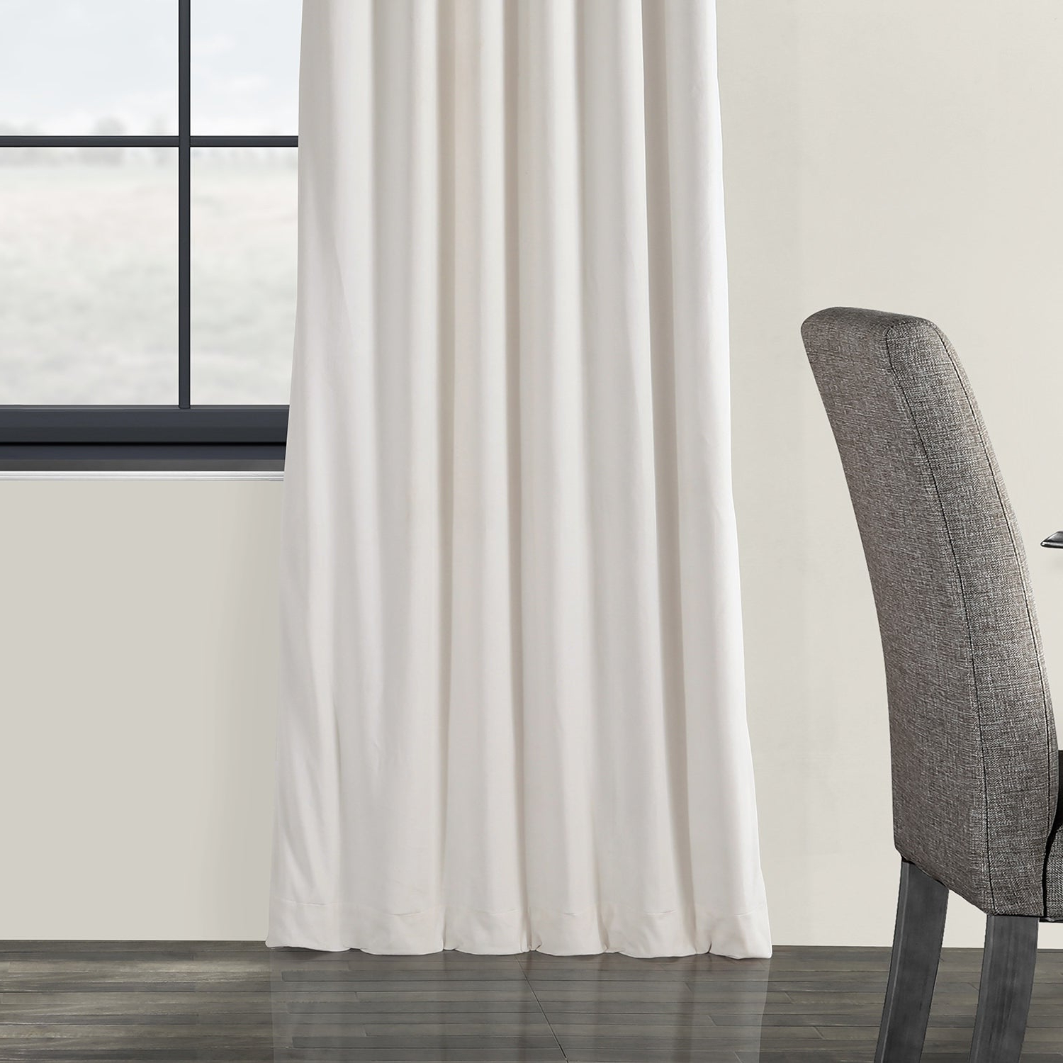 Signature Ivory Velvet Blackout Single Curtain Panels Within Most Current Exclusive Fabrics Signature Ivory Velvet Blackout Single Curtain Panel (View 5 of 20)