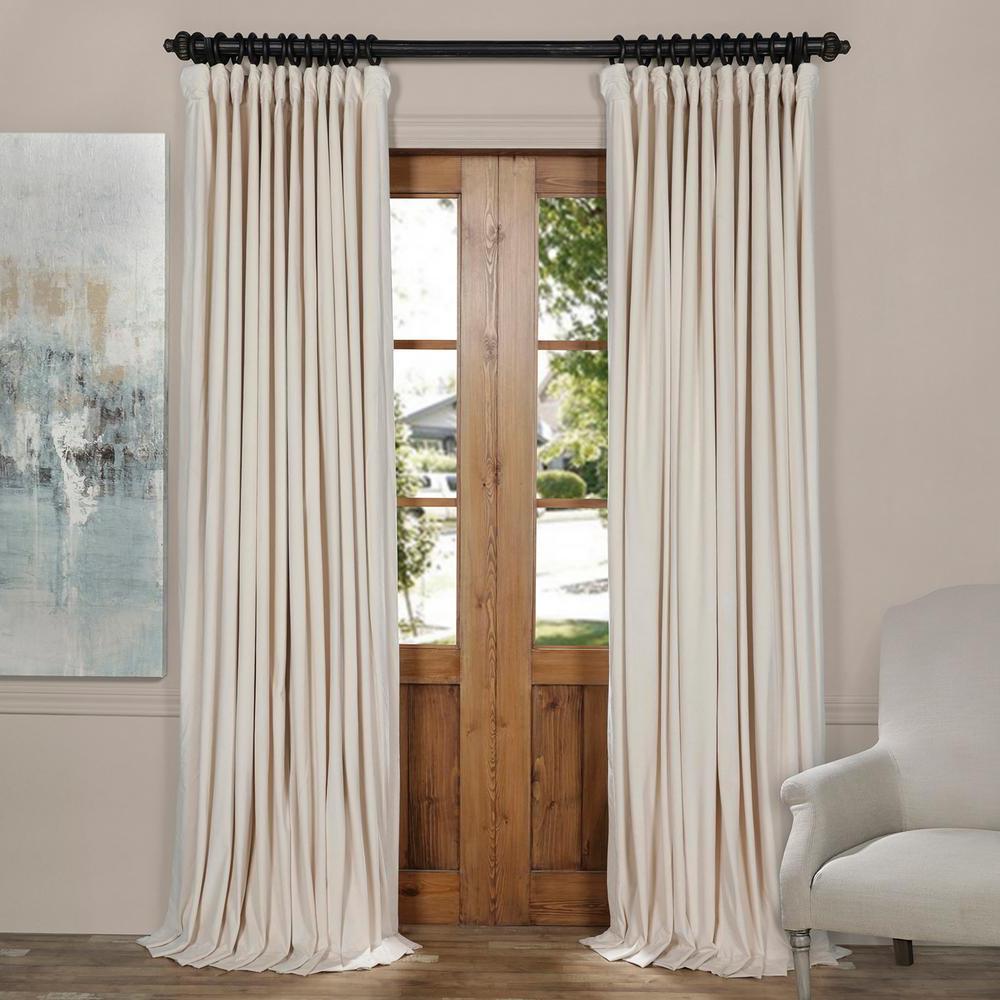 Signature Ivory Velvet Blackout Single Curtain Panels Within Popular Exclusive Fabrics & Furnishings Blackout Signature Ivory (View 13 of 20)