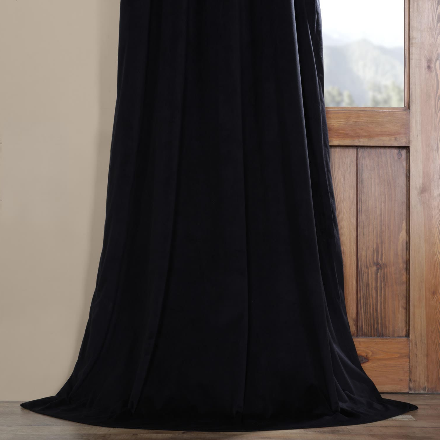 Signature Pinch Pleated Blackout Solid Velvet Curtain Panels Inside Trendy Details About Pleated Signature Blackout Velvet Curtain (So (View 12 of 20)