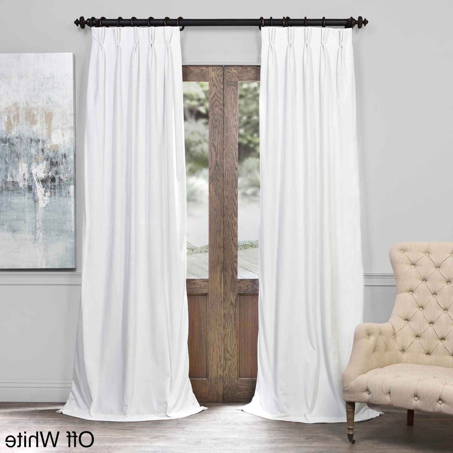 Signature Pinch Pleated Blackout Solid Velvet Curtain Panels Throughout Favorite Exclusive Fabrics Signature Pinch Pleated Blackout Solid (View 11 of 20)