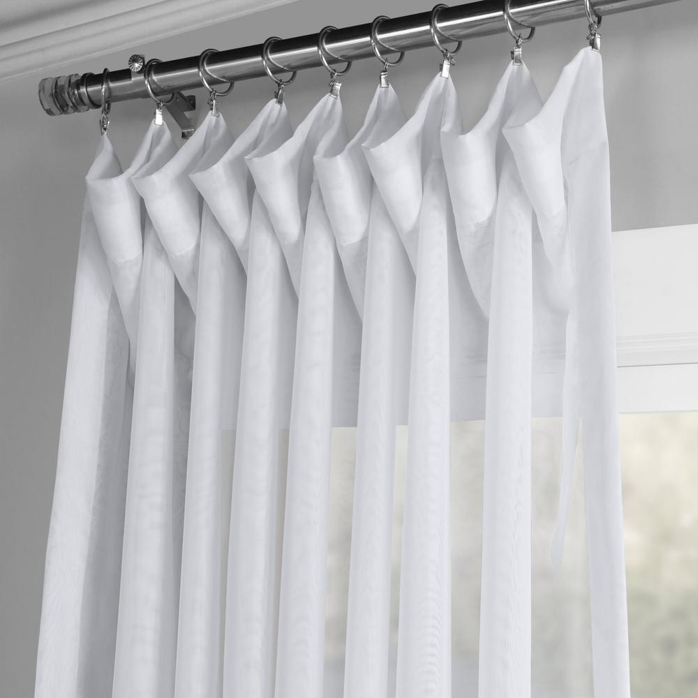 Signature White Double Layer Sheer Curtain Panels Throughout Best And Newest Exclusive Fabrics & Furnishings Signature Double Wide White Sheer Curtain – 100 In. W X 108 In (View 4 of 20)
