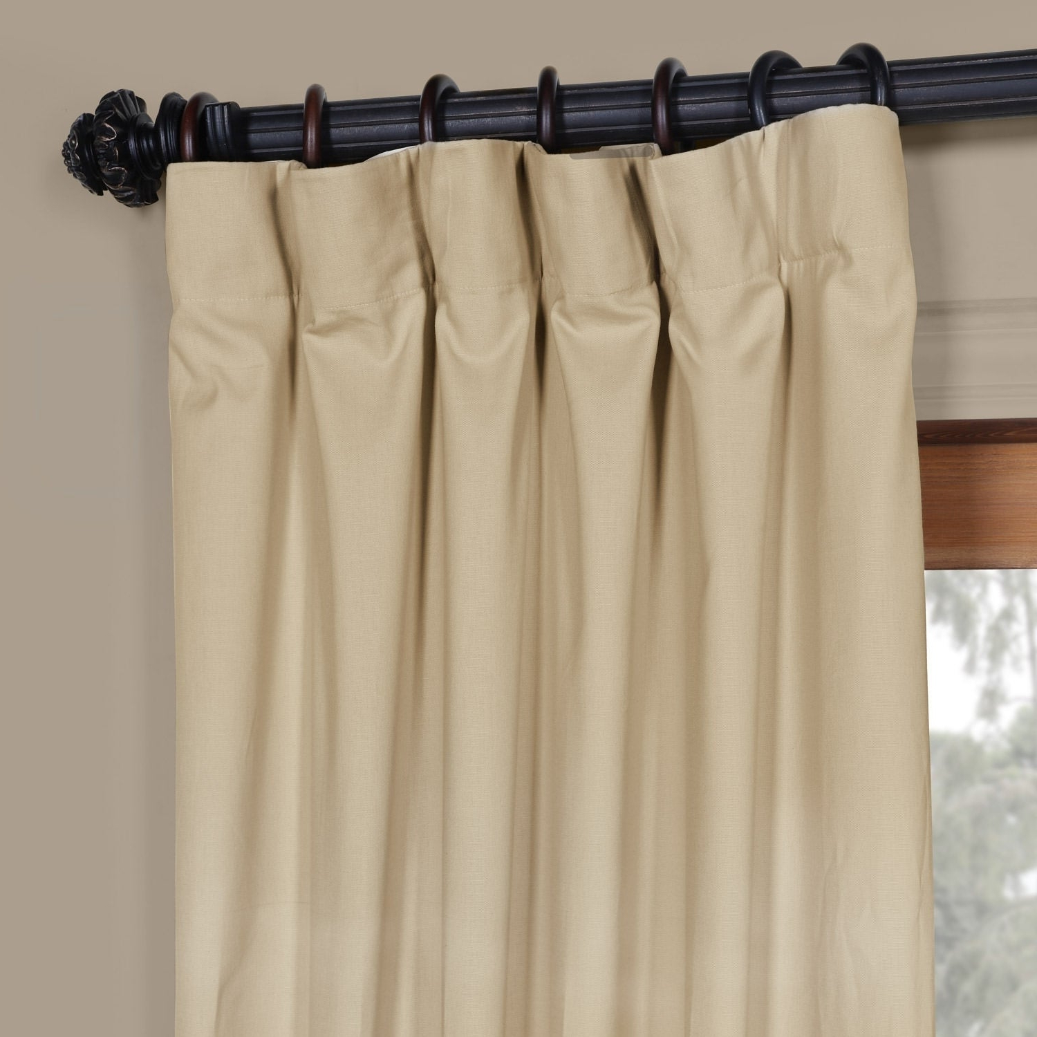 Solid Cotton Curtain Panels Throughout Well Known Exclusive Fabrics Solid Cotton Curtain Panel (View 15 of 20)