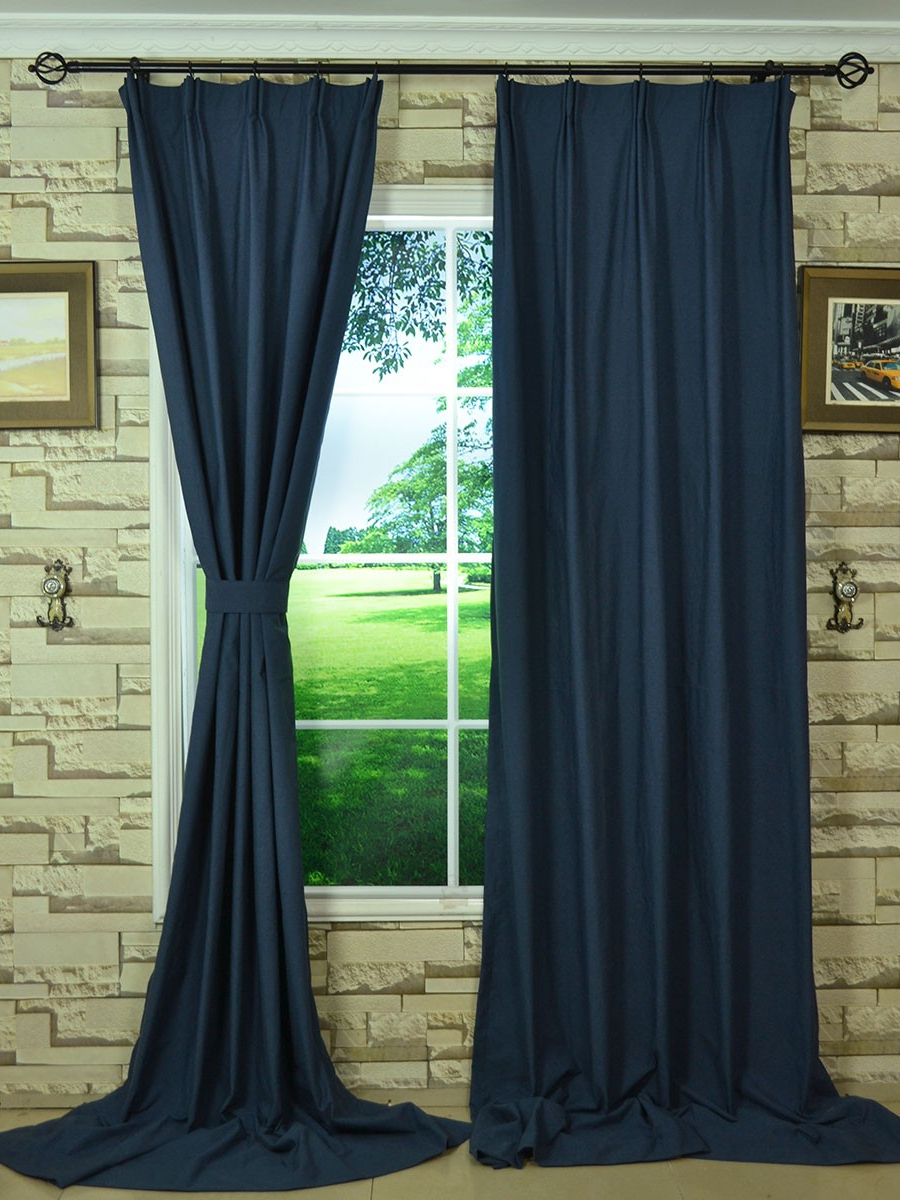 Solid Cotton Pleated Curtains In Fashionable Hudson Solid Versatile Pleat Curtain – Extra Wide Curtains (View 9 of 20)